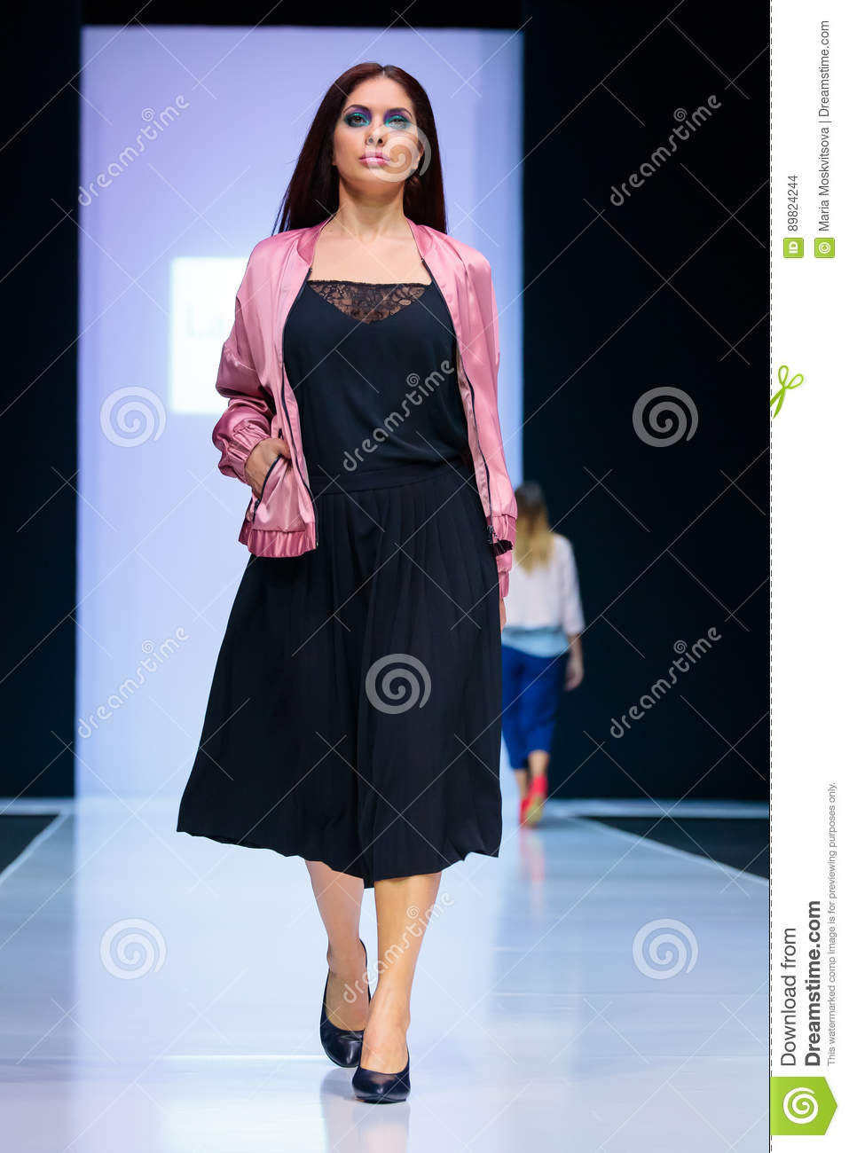 ae5bf549acd Model walk runway for LA REDOUTE   PLUS SIZE MOSCOW catwalk at  Autumn-Winter 2017