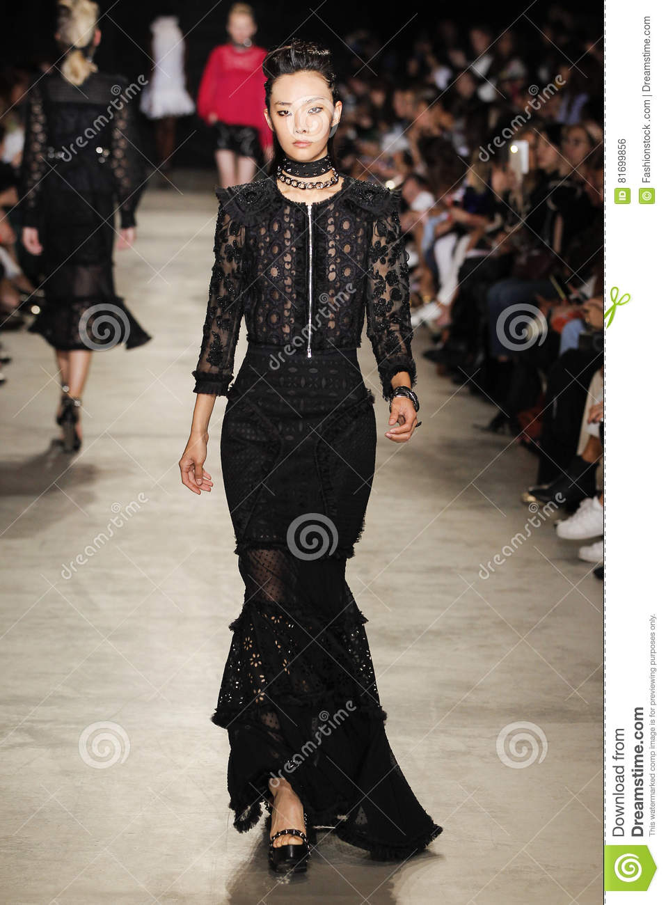 20012aafb08 A Model Walks The Runway During The Andrew GN Show As Part Of The ...