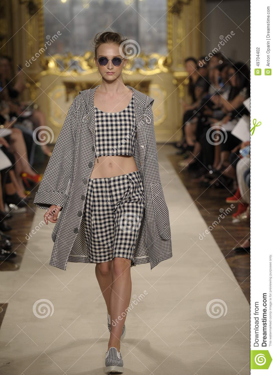 A Model Walks The Runway During The Cristiano Burani Show ...