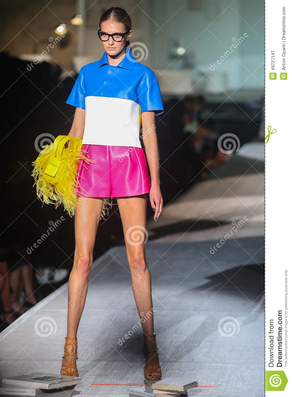 A Model Walks The Runway During The DSquared2 Show As A ...