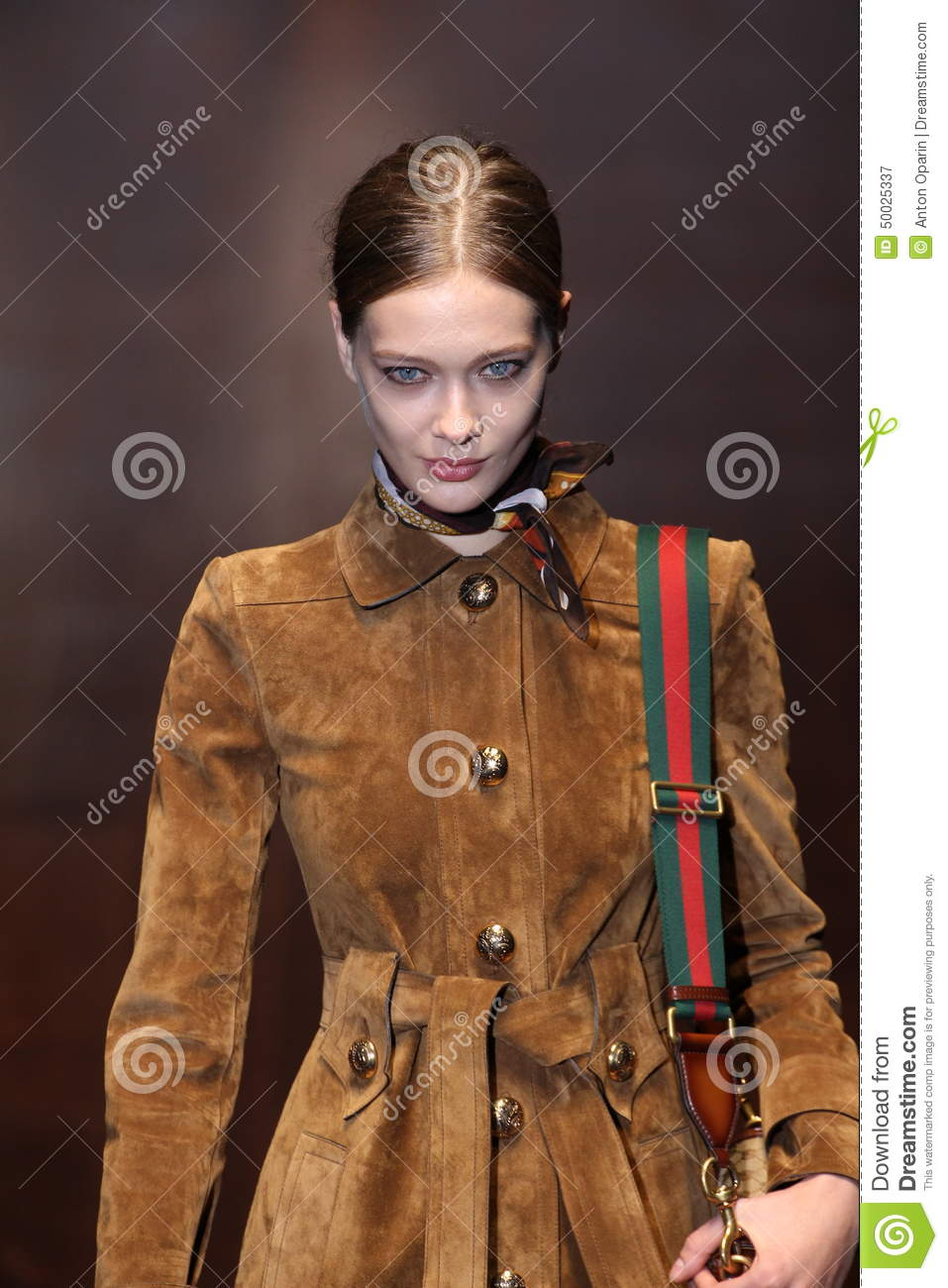 A Model Walks The Runway During The Gucci Show As A Part ...