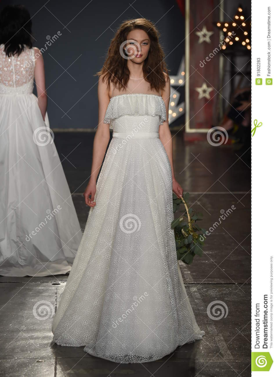 44911cf082eb A model walks the runway during the Jenny Packham Spring Summer 2018 bridal  collection fashion