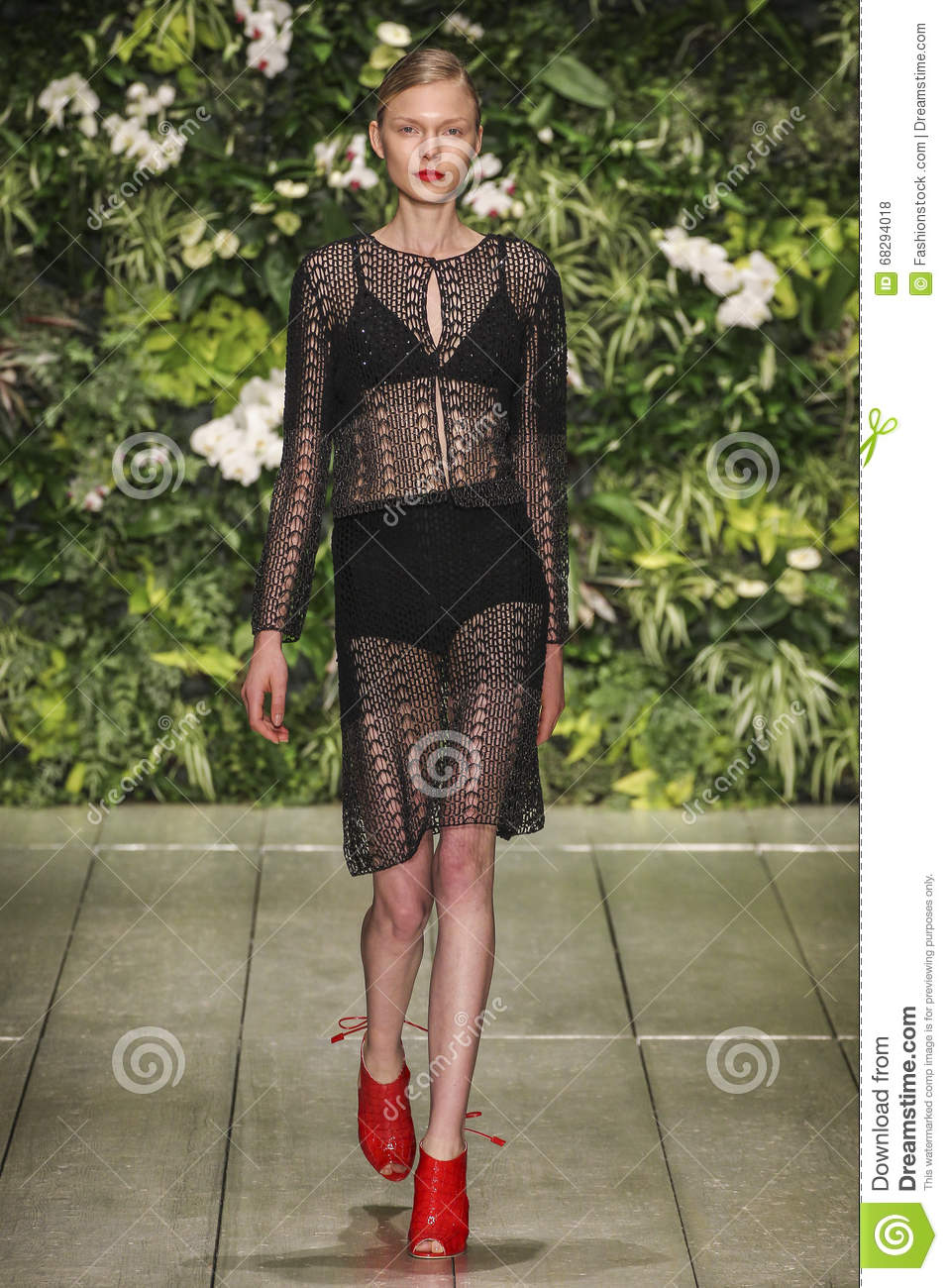 A model walks the runway during the Laura Biagiotti fashion show