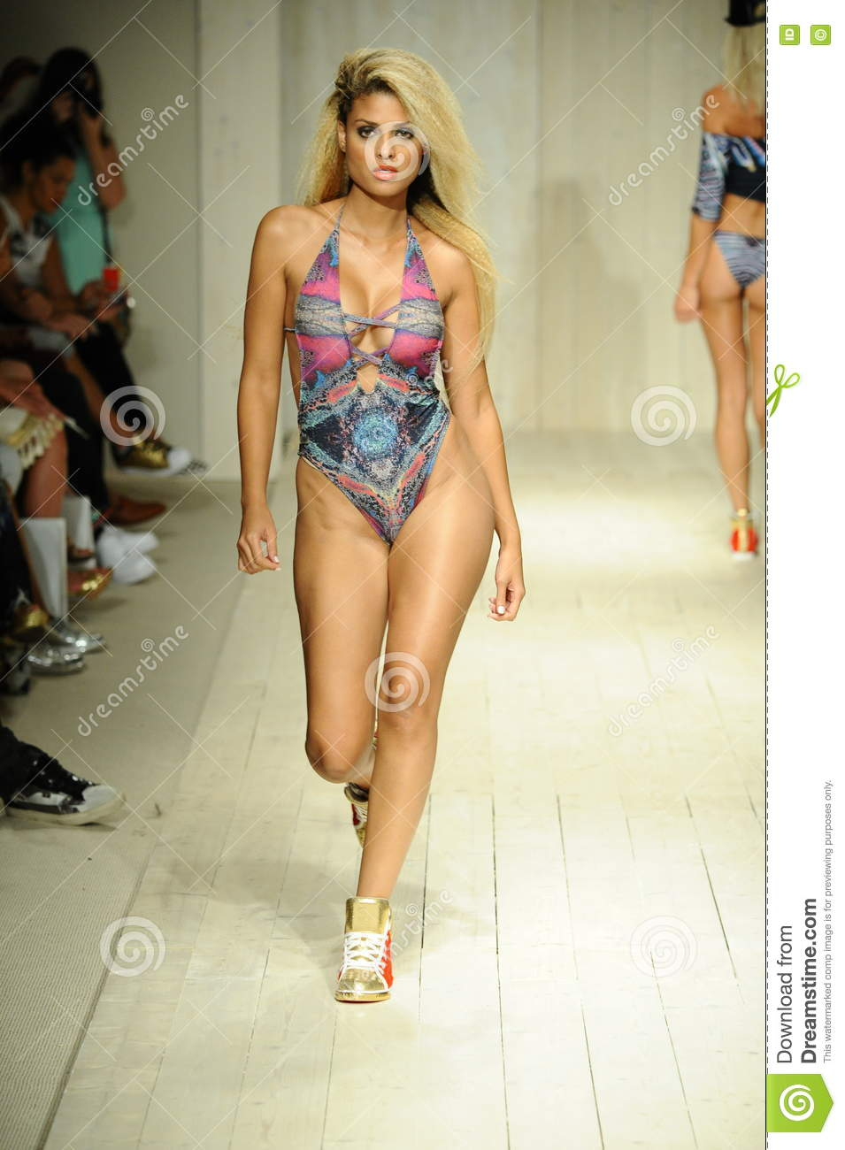 Model Walks The Runway During Lila Nicole Spring Summer ...