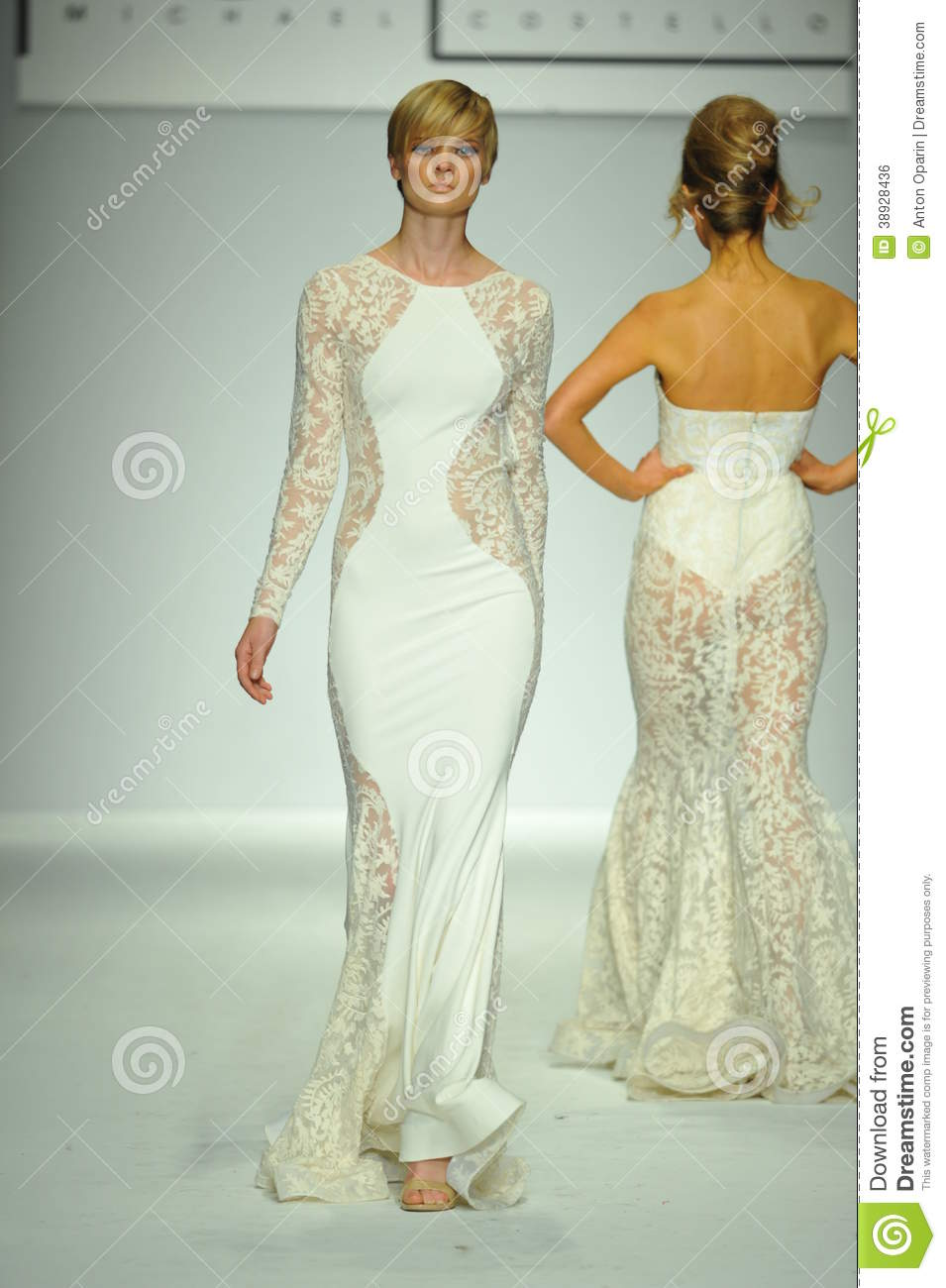 A Model Walks The Runway At Michael Costello Show Editorial Photo 38928517