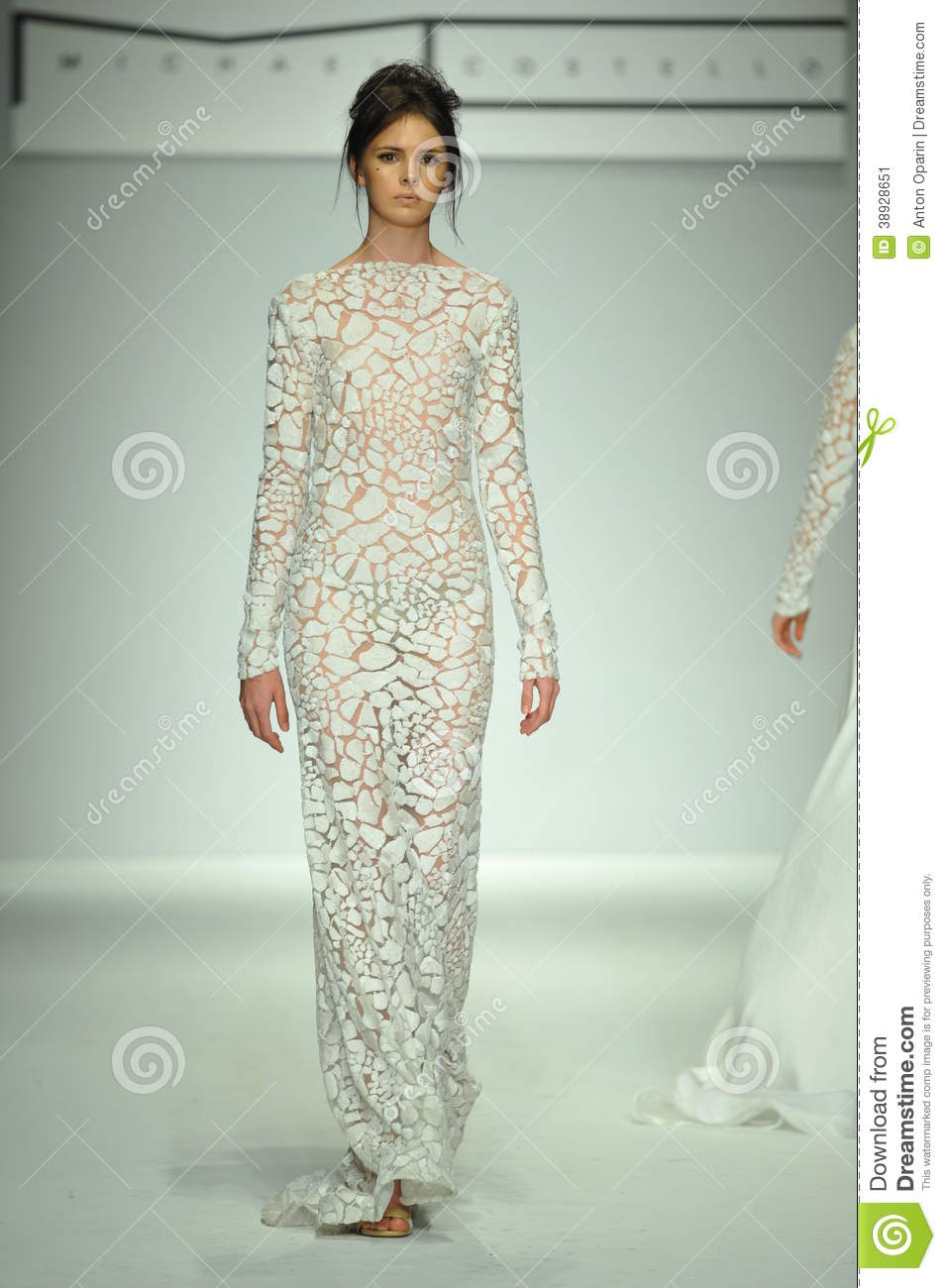 A Model Walks The Runway At Michael Costello Show Editorial Photo 38928979