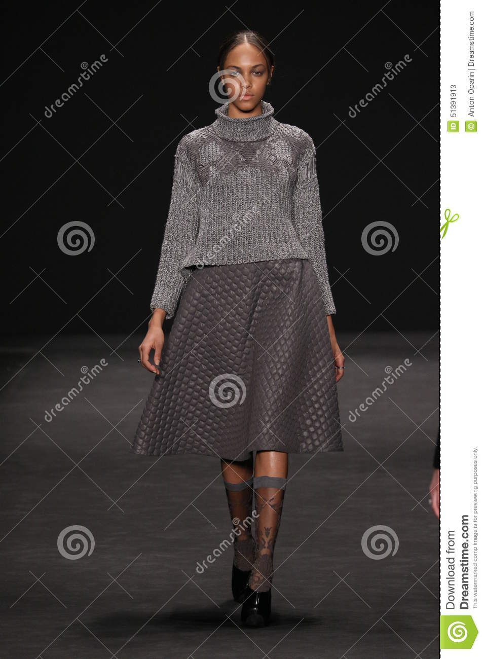 Model Walks The Runway At The Vivienne Tam Fashion Show ...