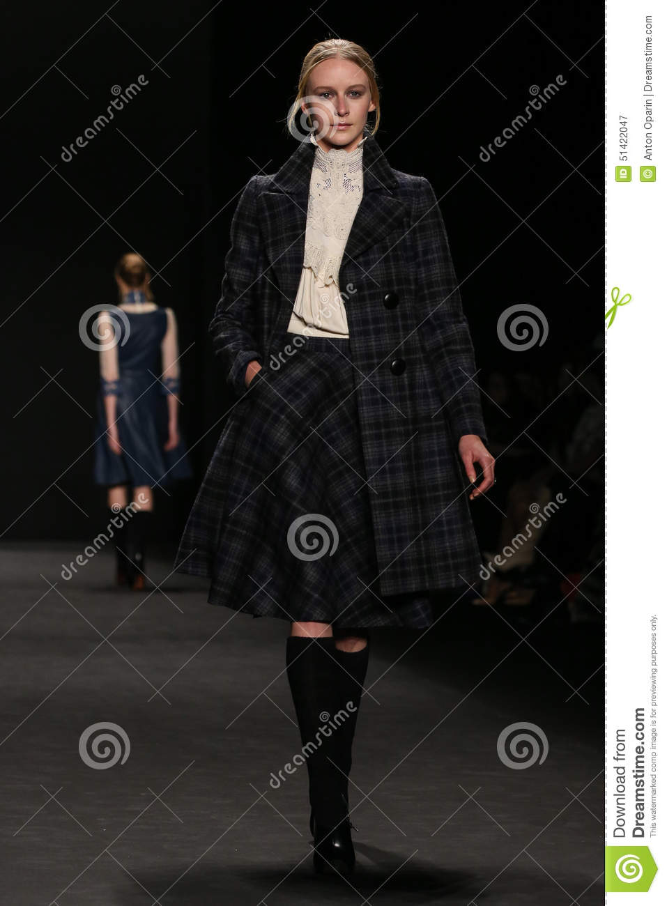 Model walks the runway at the Vivienne Tam fashion show during Mercedes-Benz Fashion Week Fall 2015