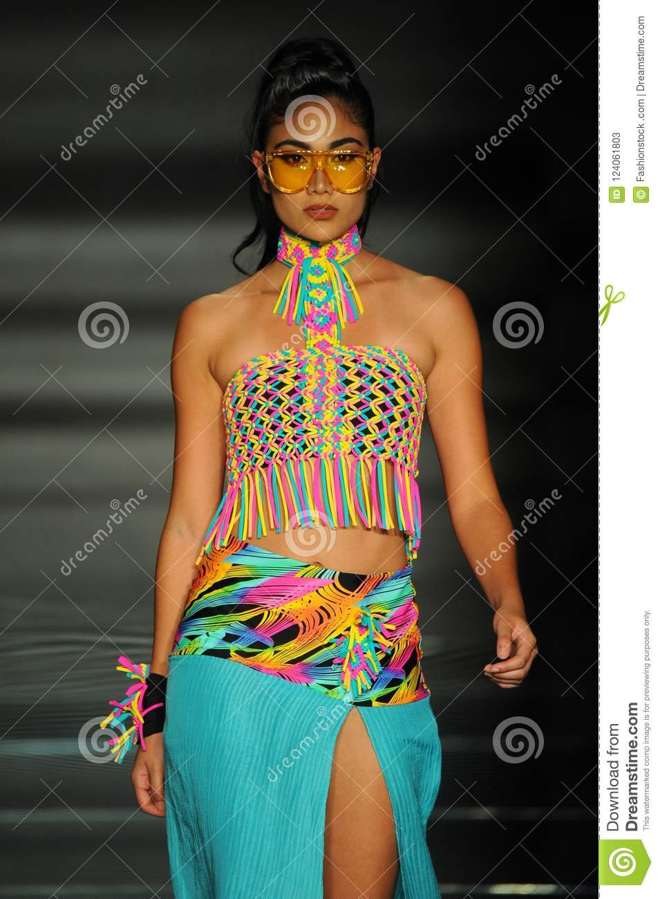 A Model Wears Fashions By Design Students Of Miami International University Of Art And Design Editorial Stock Photo Image Of July 2019 124061803