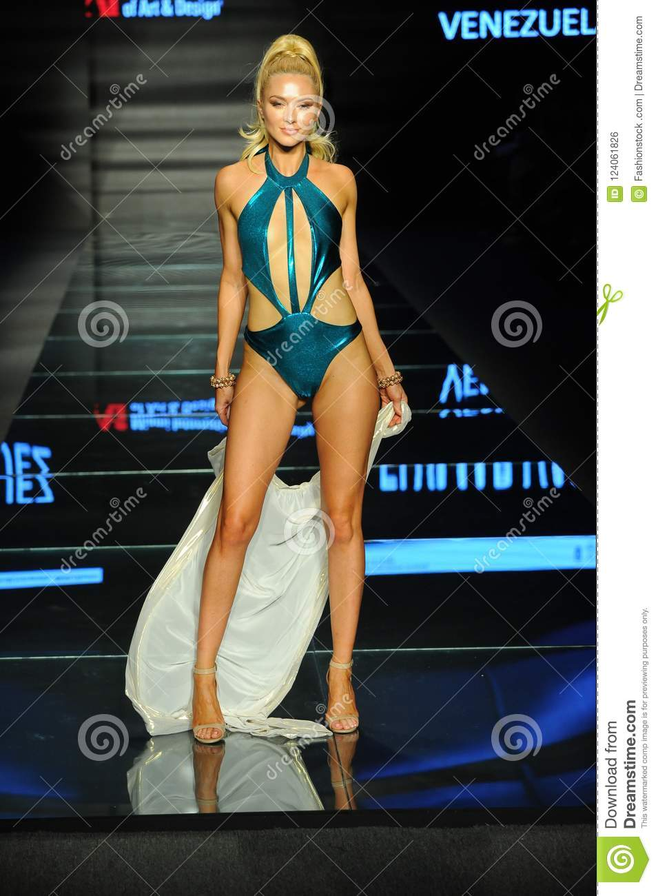 A Model Wears Fashions By Design Students Of Miami International University Of Art And Design Editorial Photo Image Of 2019 Florida 124061826