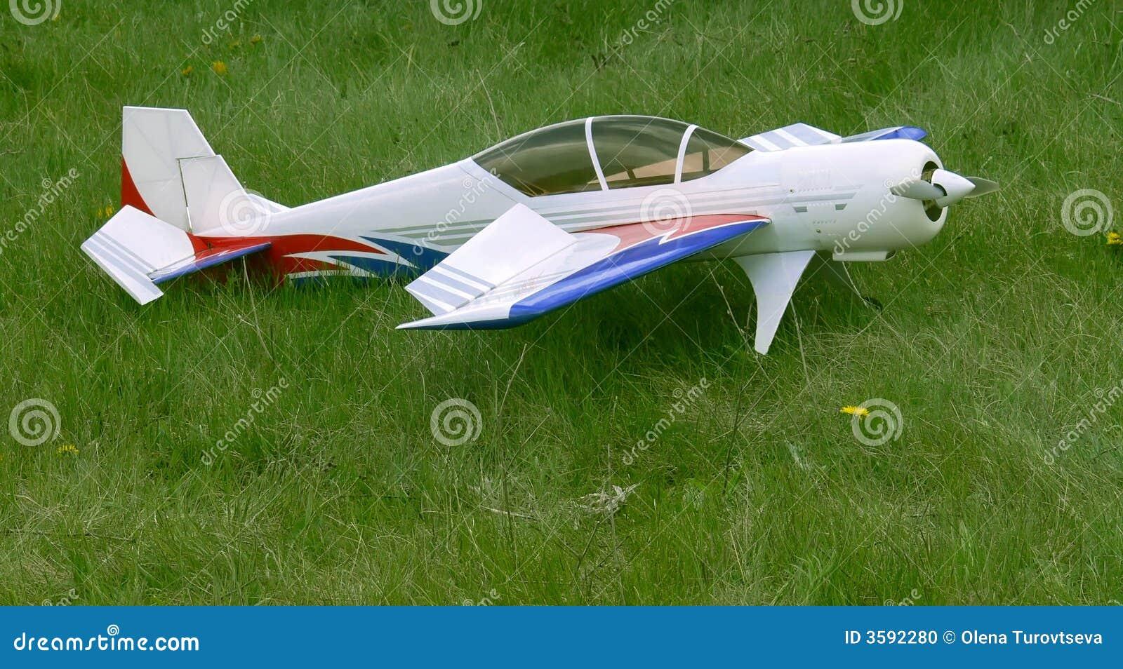 Model white för flygplan