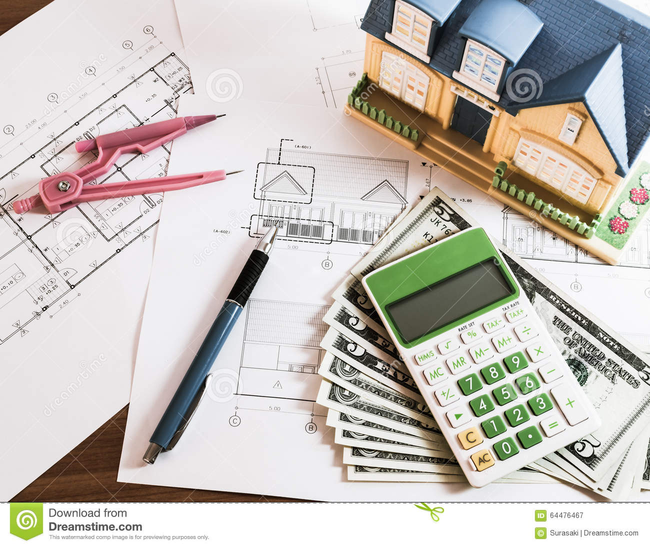 Modelhouse calculator and us dollars on construction for Calculator for building a house