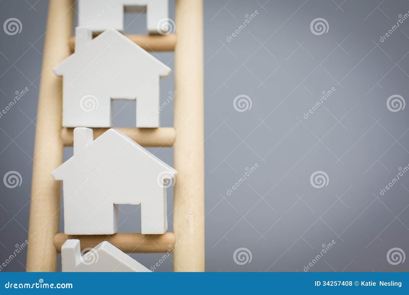 Modelhouses on rungs van Houten Bezitsladder