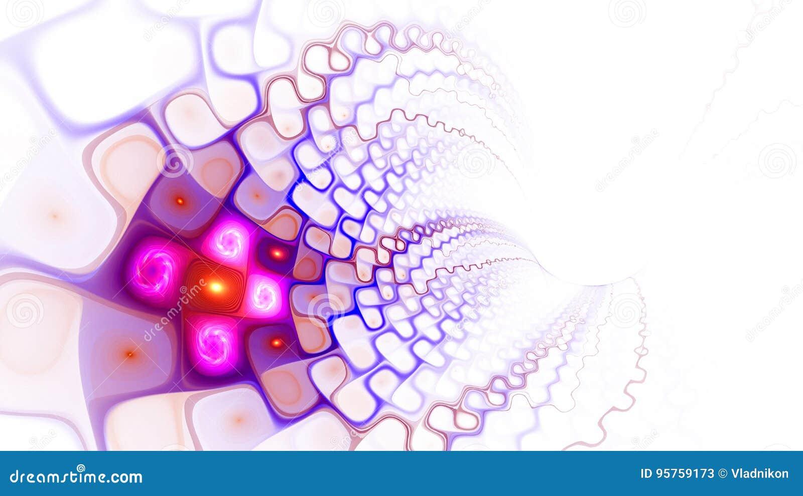 Modell av celler bred värld för rengöringsduk Flöde av plasma