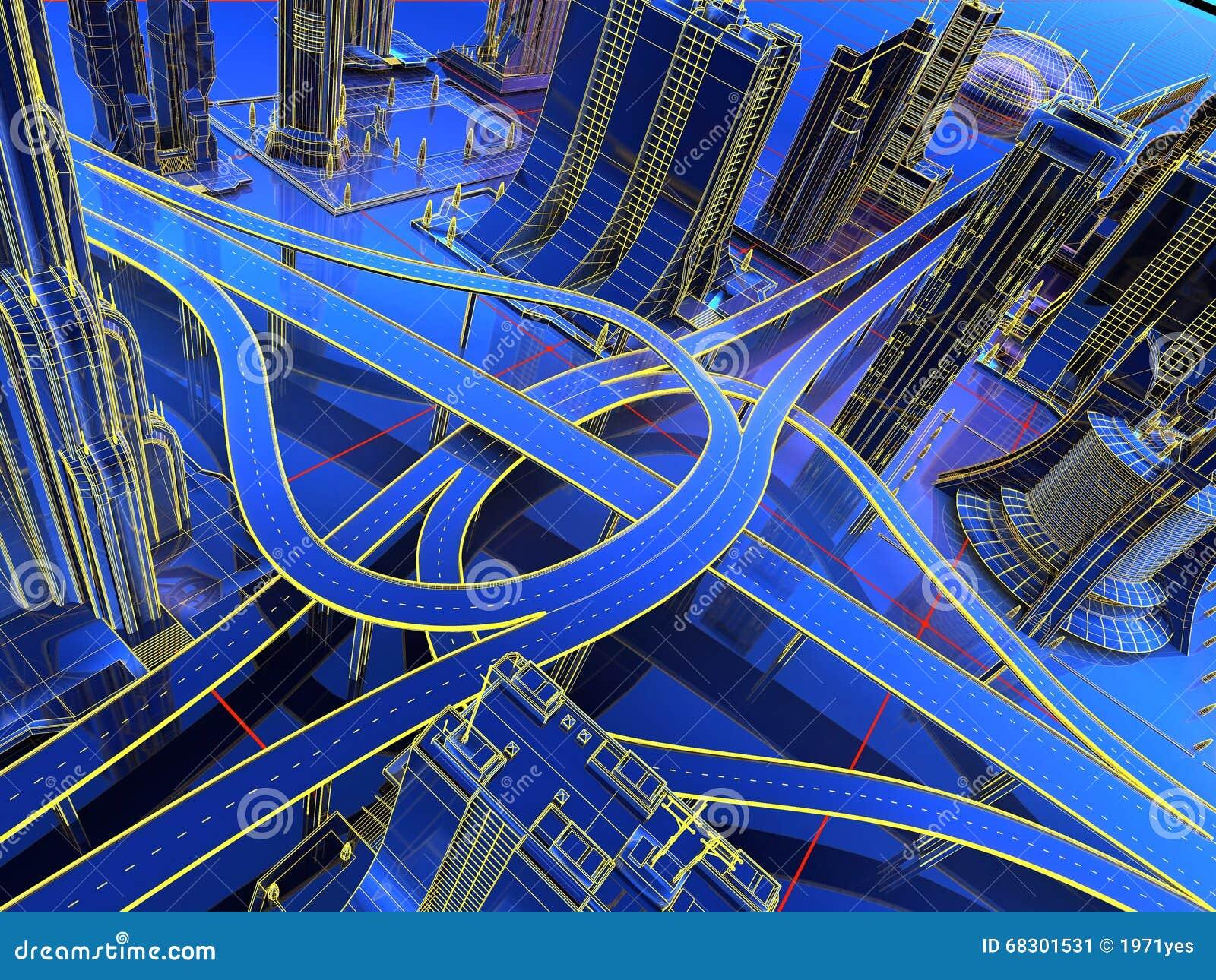 Modell der Straßen