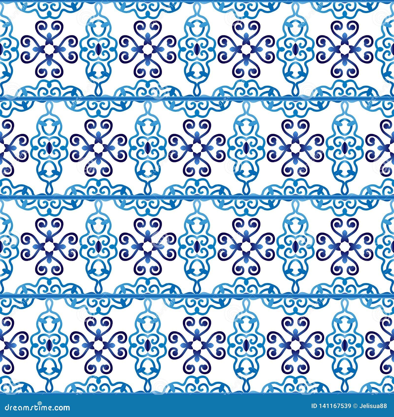 Modell för keramisk tegelplatta Islamiska, indiska arabiska motiv seamless damastast modell Etnisk bohemisk bakgrund för porslin