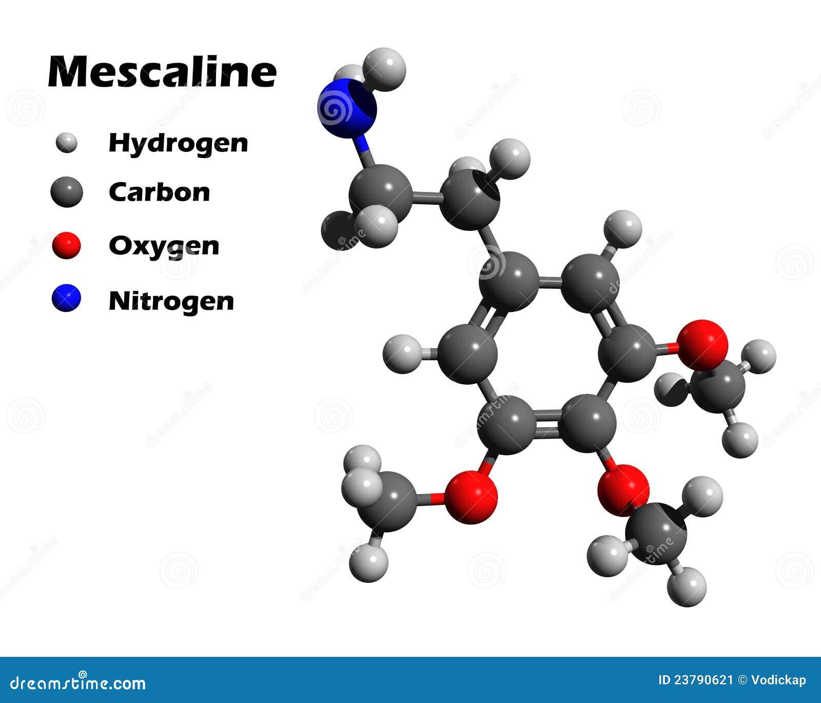 Modell för mescaline 3d