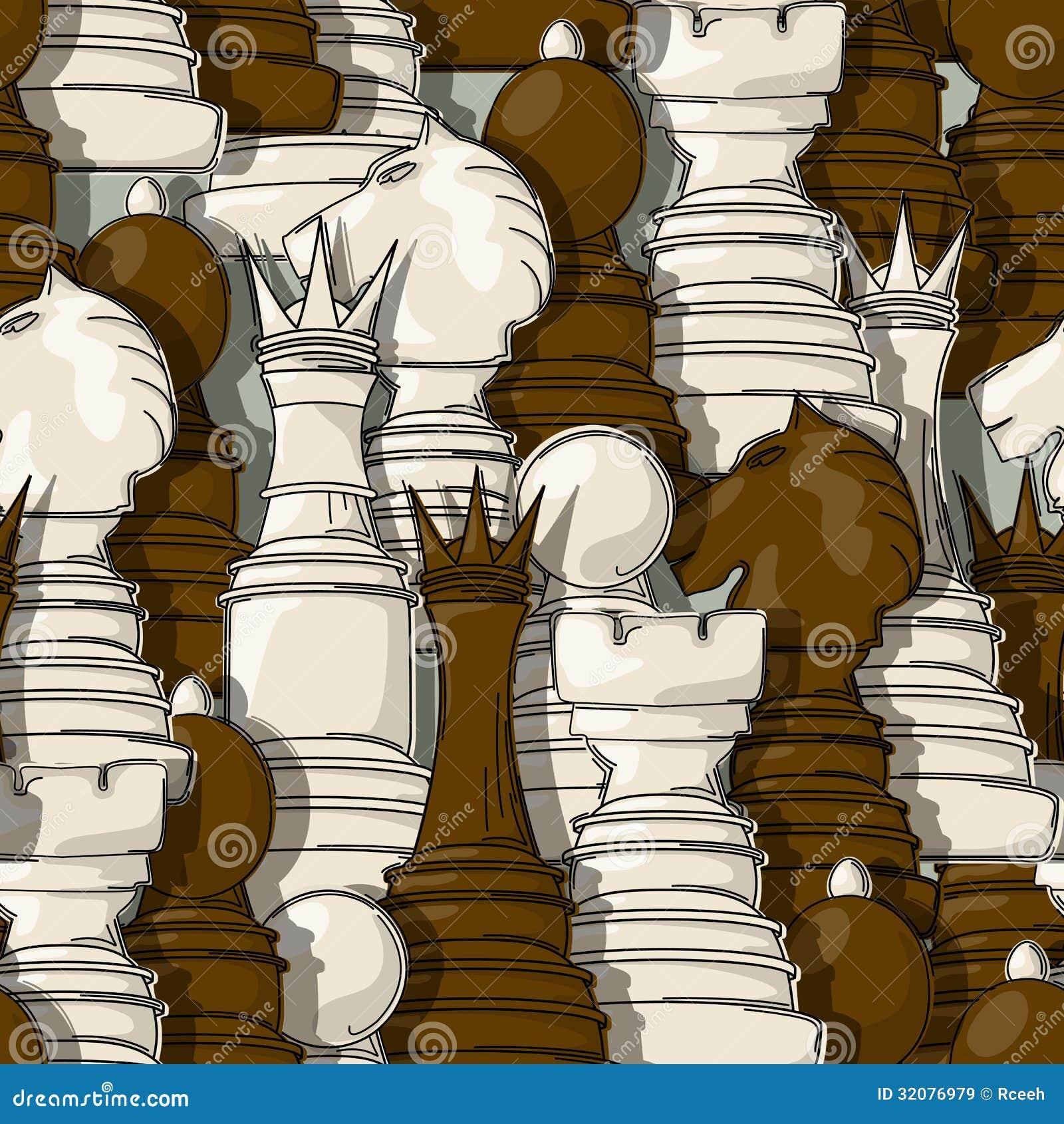 Modell för schackstycken