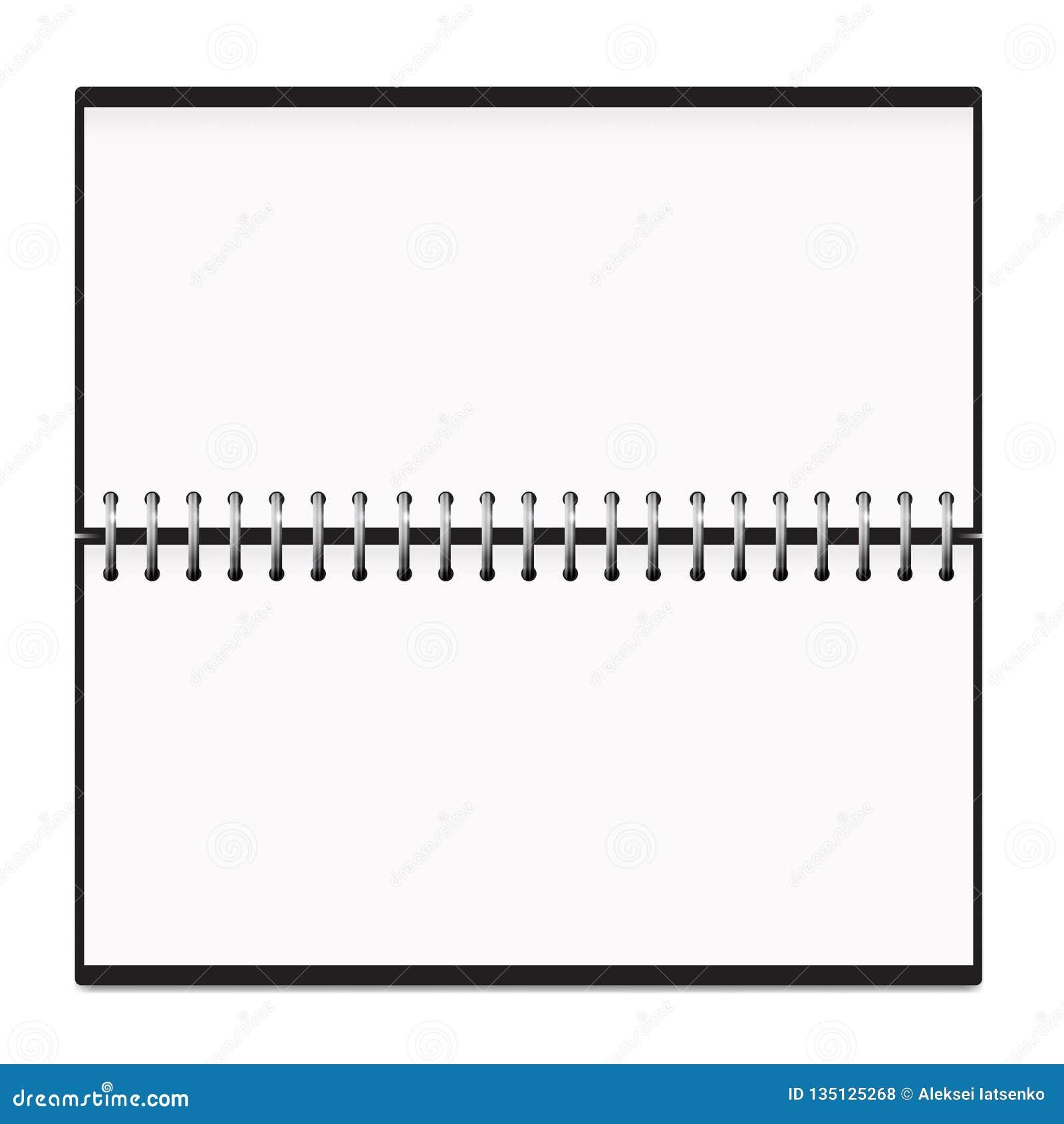 Modell för vår för kalenderhorisontalNotepadmetall