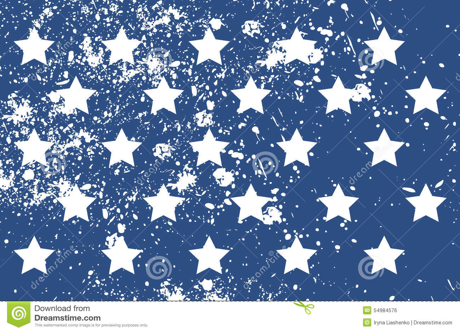 Modell med amerikanska stjärnor i grungestil