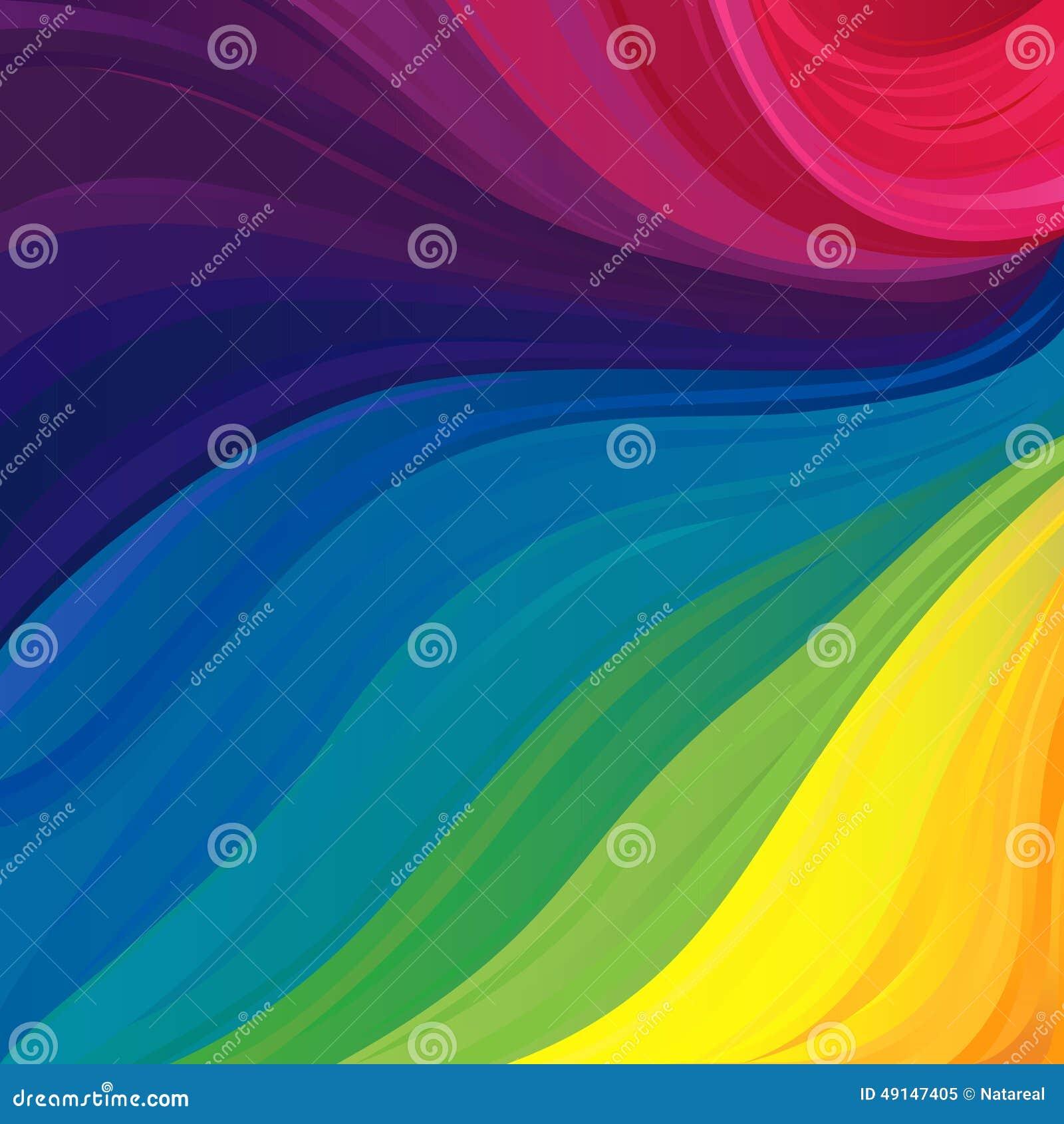 Modell med färger för synligt spektrum