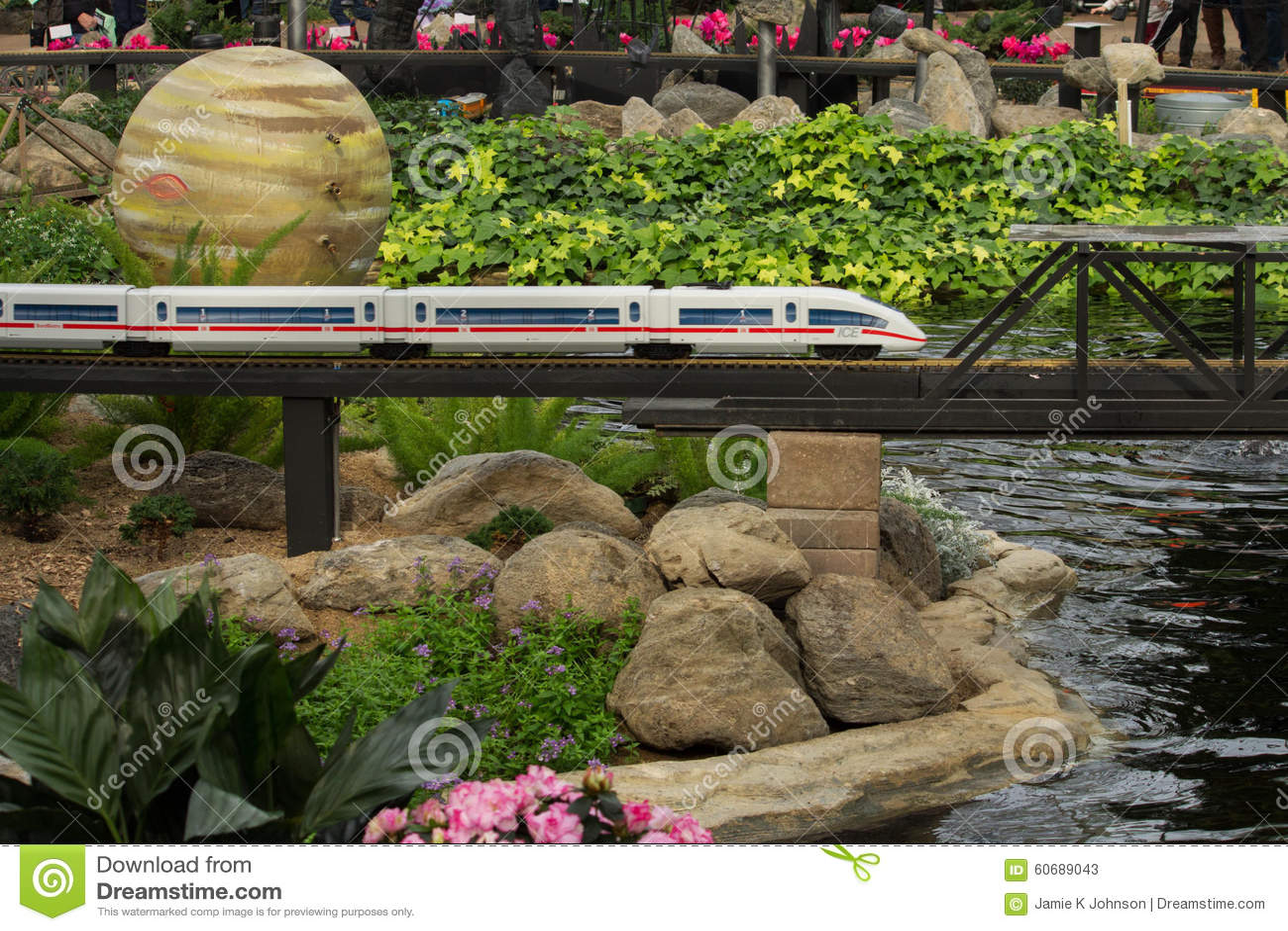 Modell Railroad Space & trädgård