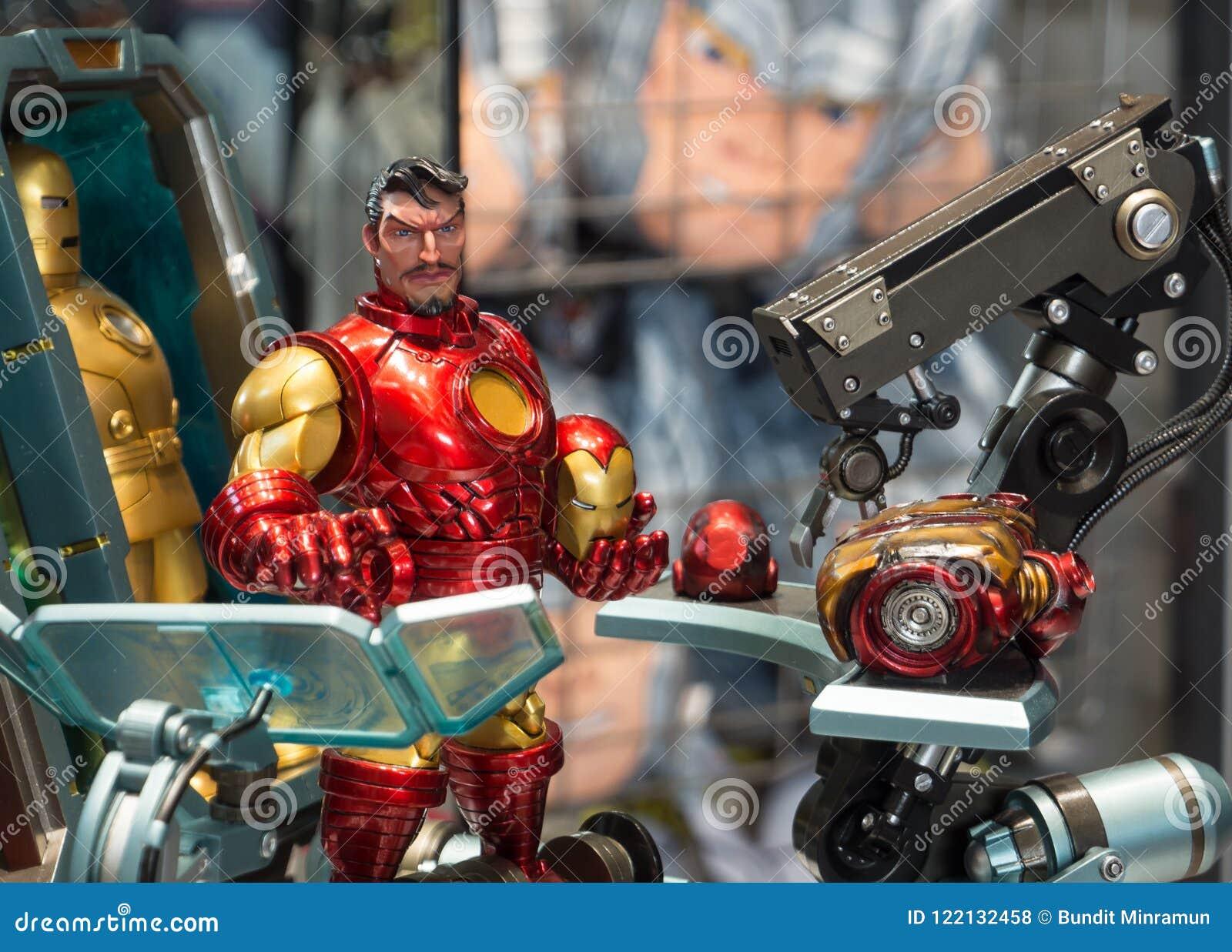 Modellen för järnmanleksaken i komisk version är det sällsynta samlingsobjektet för Marvel