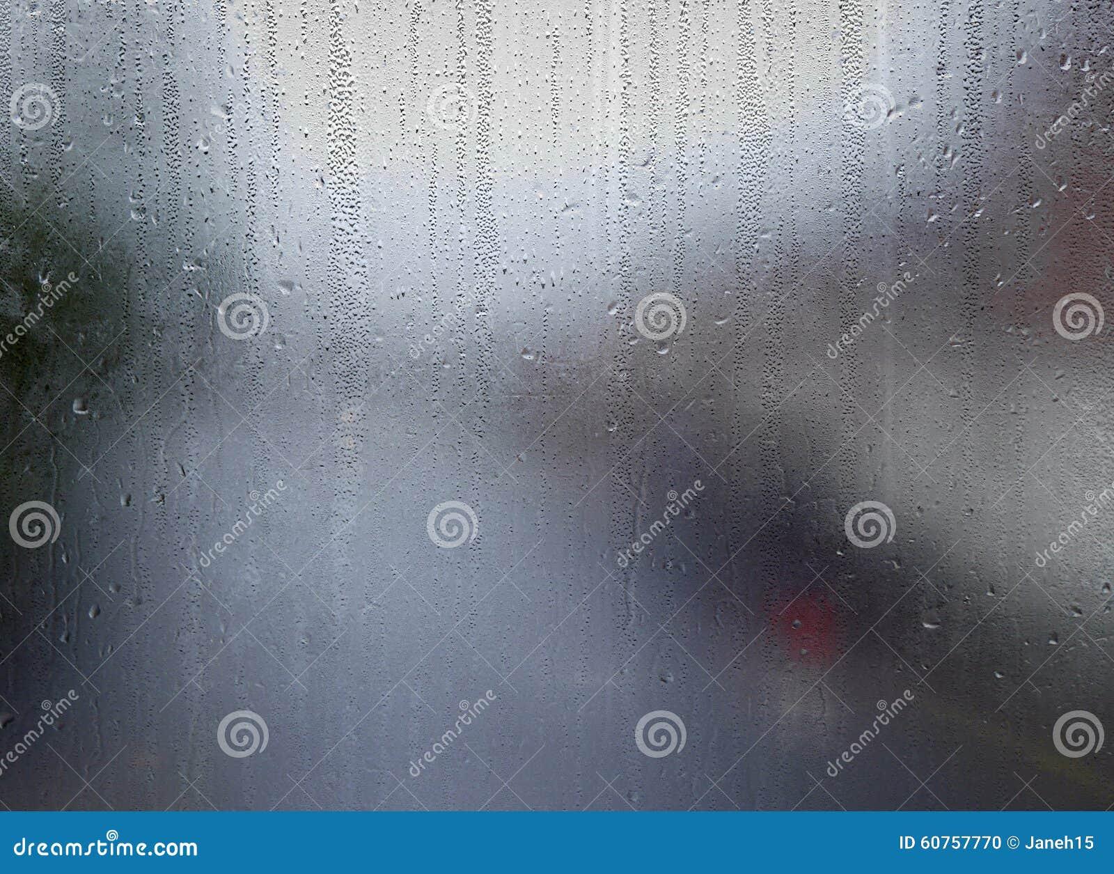 Modelli dell acqua sulla finestra
