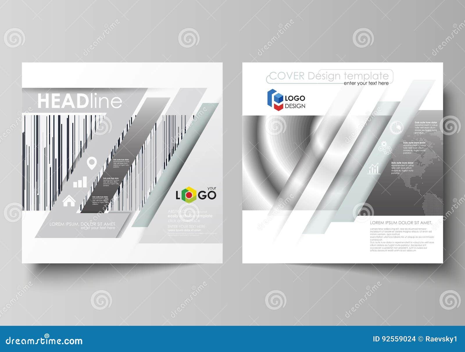 Modelli di affari per l opuscolo quadrato di progettazione, rivista, aletta di filatoio, libretto, rapporto Copertura dell opusco
