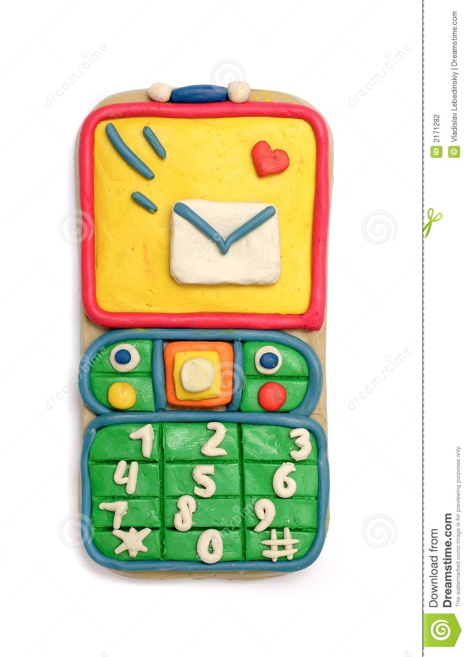 Modelling Clay Cell Phone Stock Photography Image 2171282