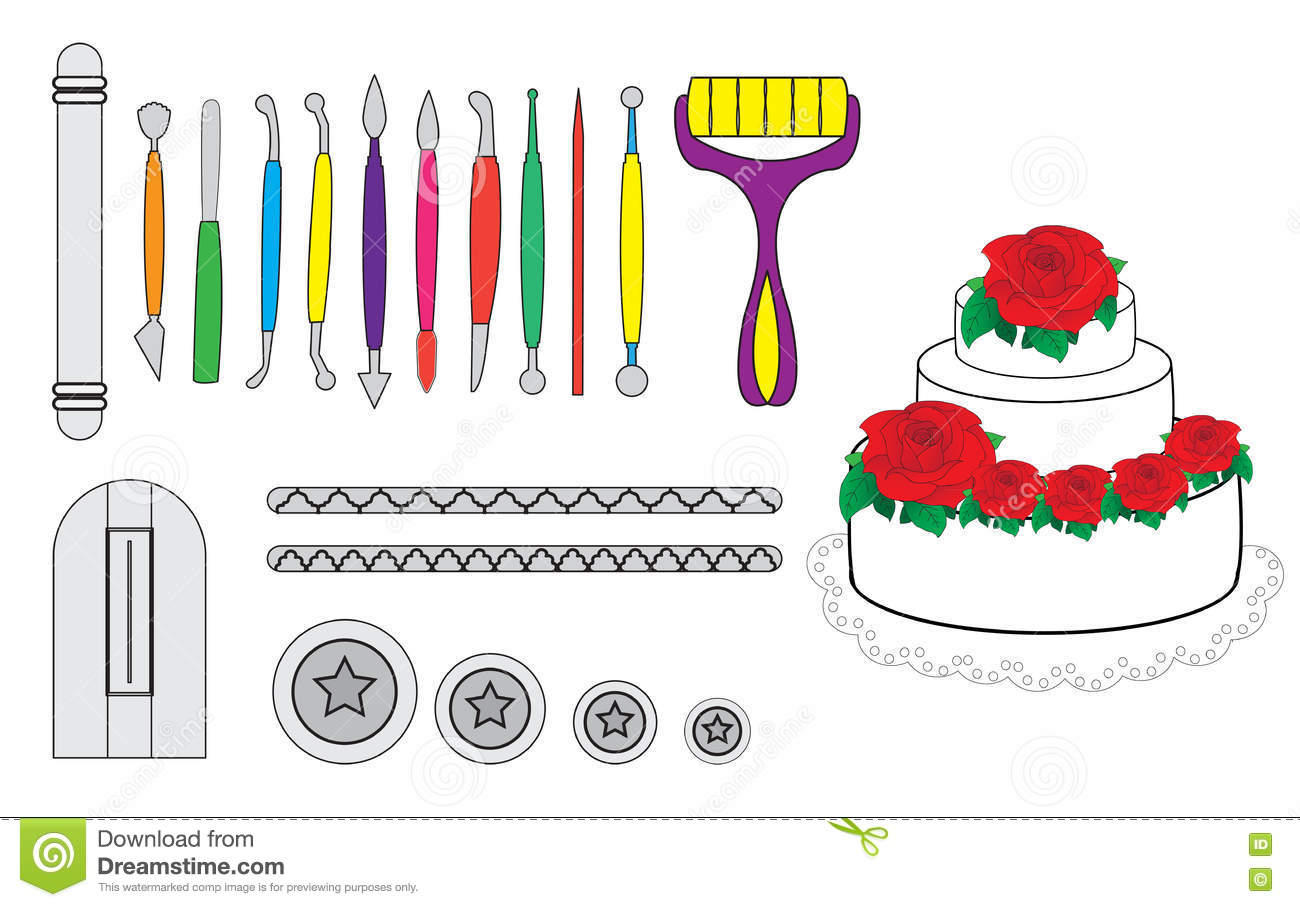 Modelling Tools For Icing Decorating Sugarpaste Marzipan