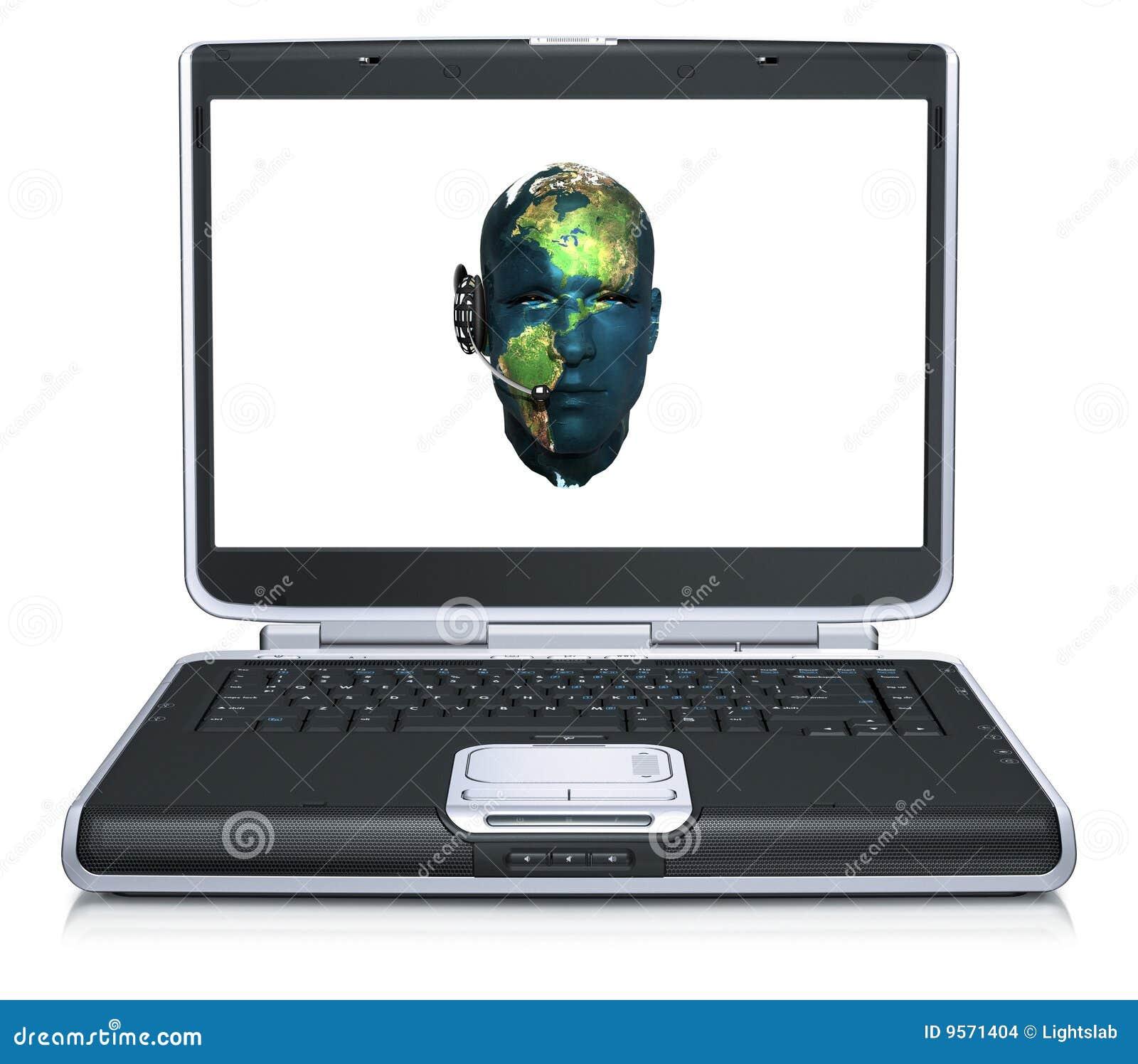 Modello 3d della testa dell 39 uomo illustrazione di stock for Planimetrie della caverna dell uomo