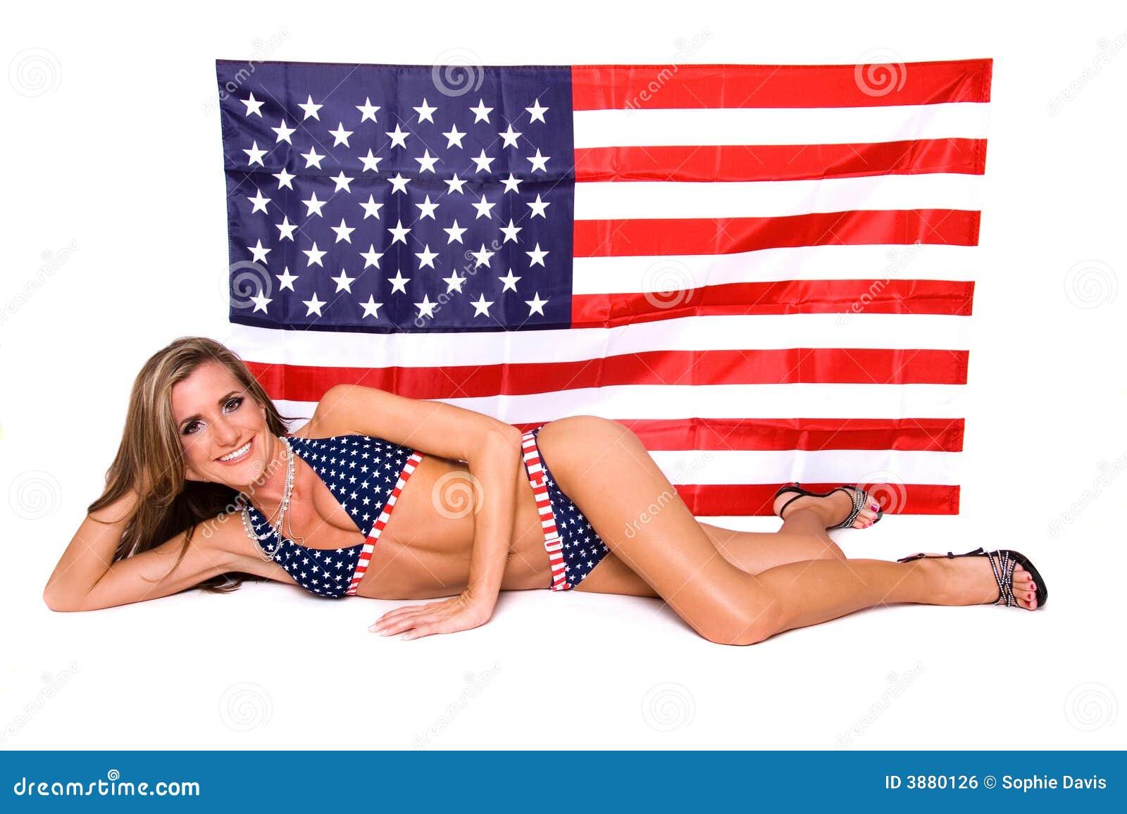 Modello americano del bikini.