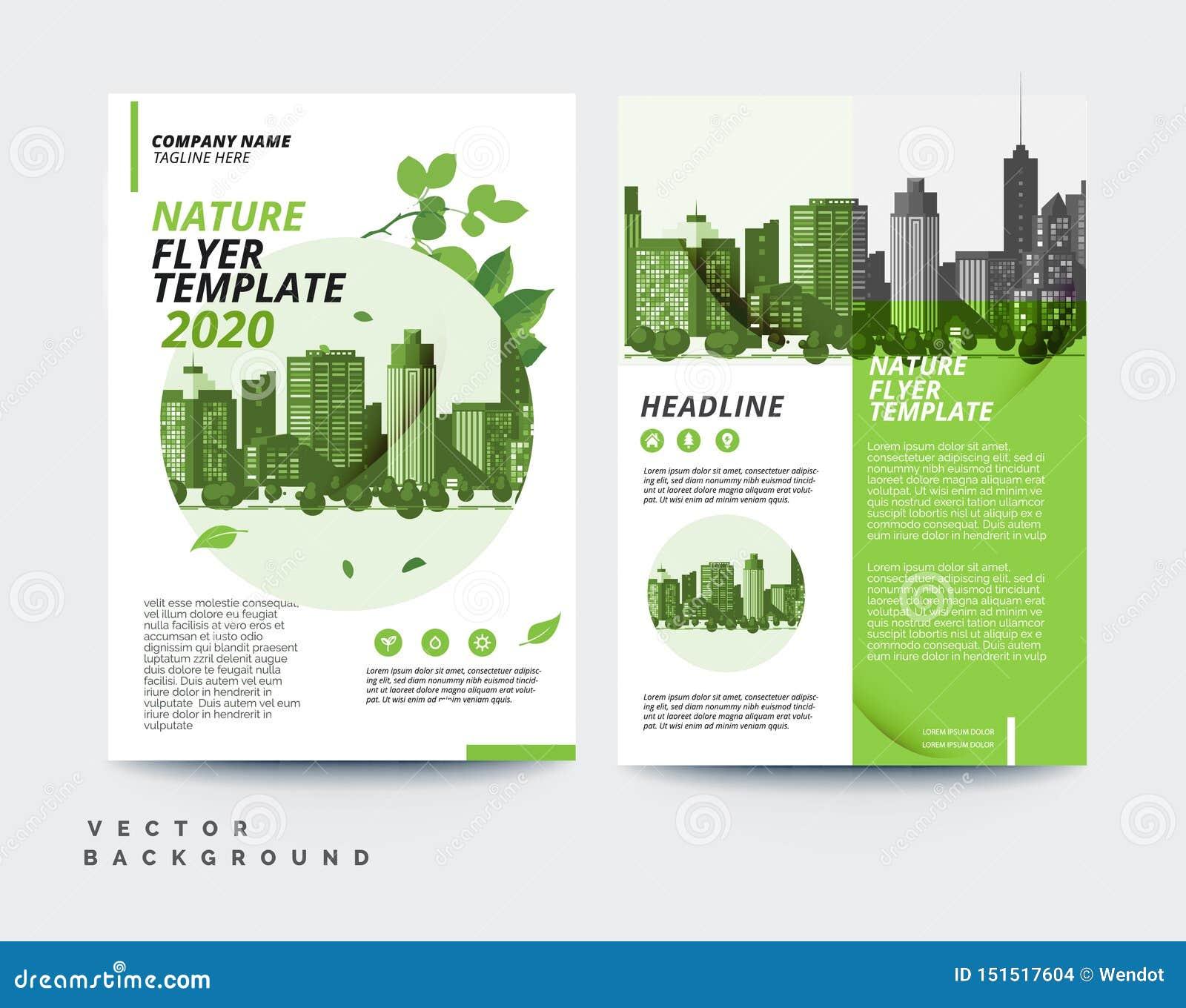 Modello amichevole di progettazione a4 dell aletta di filatoio dell opuscolo di affari di progettazione di eco