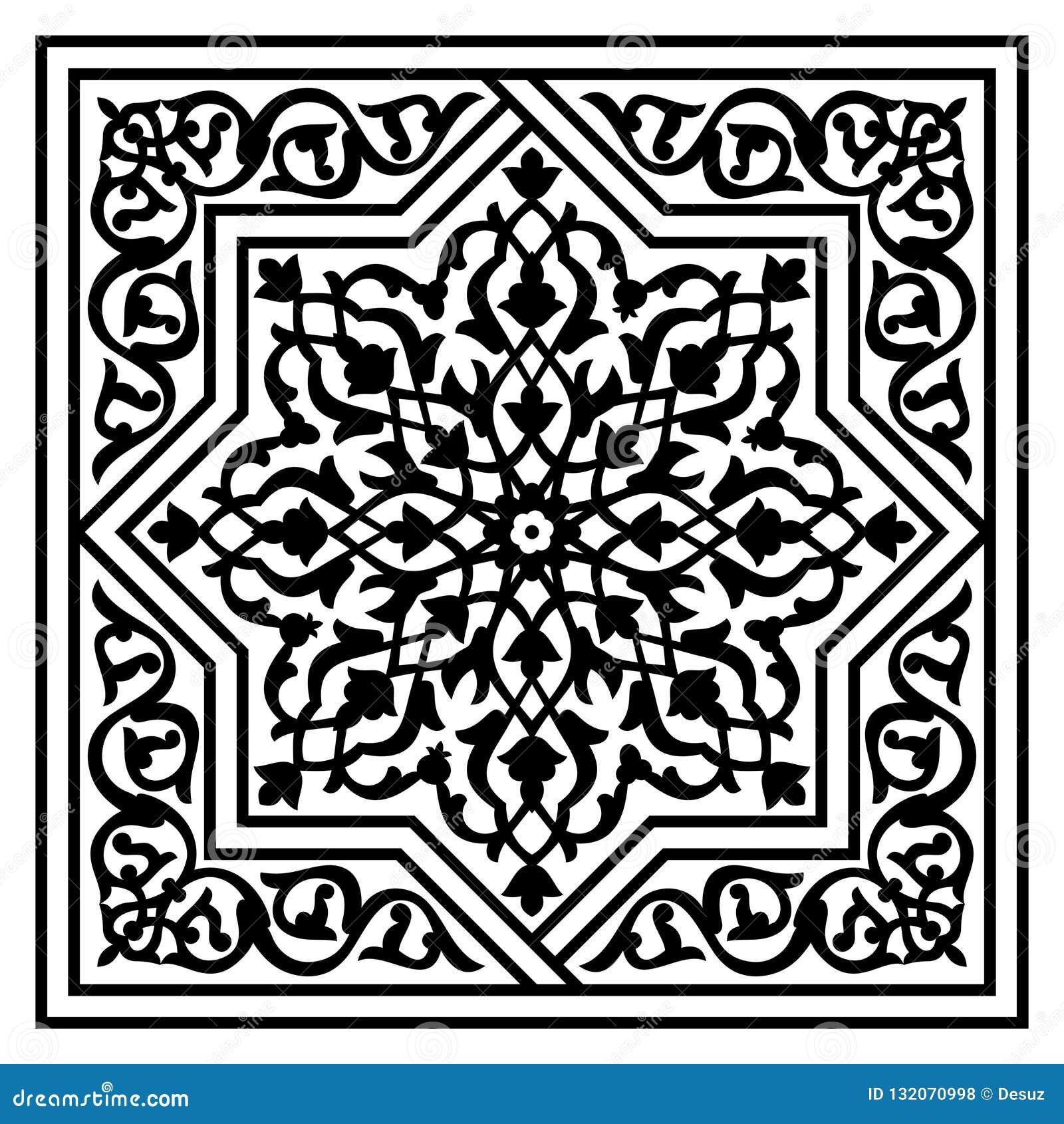 Modello arabo floreale