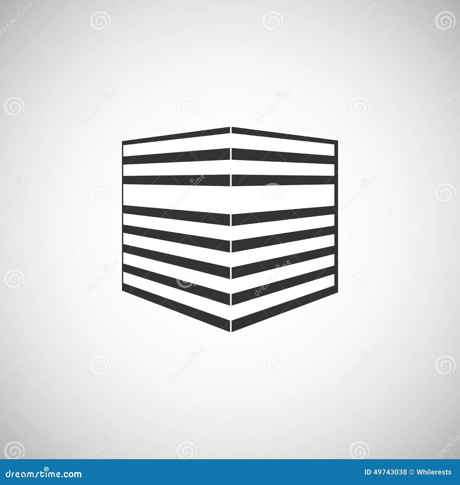 Modello astratto di progettazione di logo della siluetta for Software di progettazione di costruzione di case gratuito
