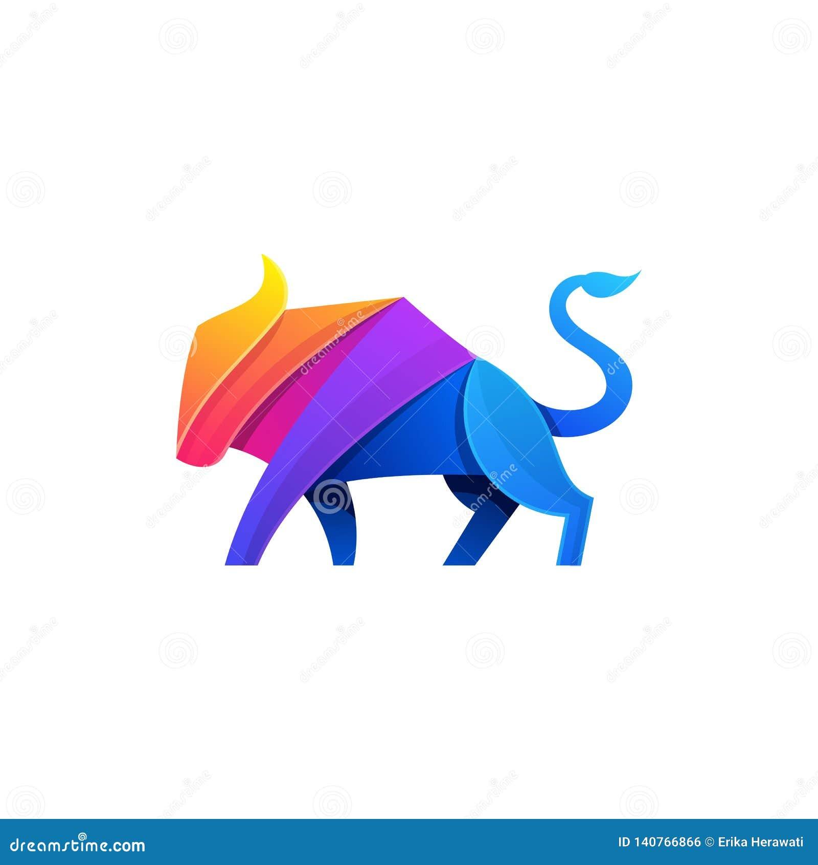 Modello astratto di vettore dell illustrazione di progettazione di colore pieno del toro