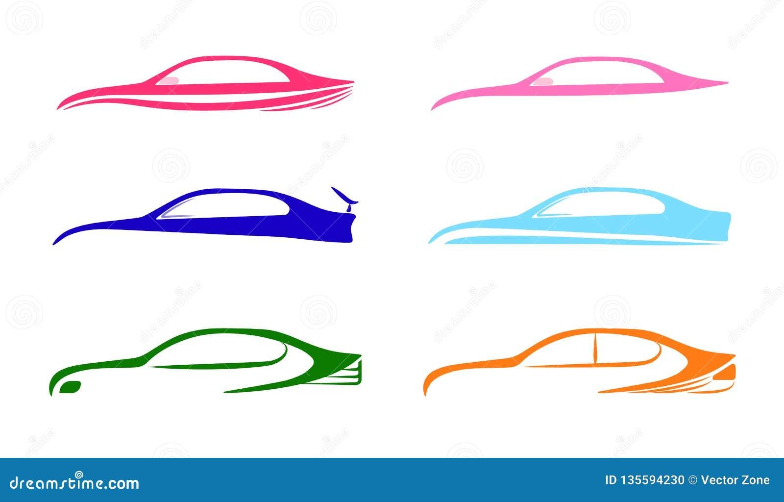 Modello automatico delle collezioni di logo dell automobile di velocità