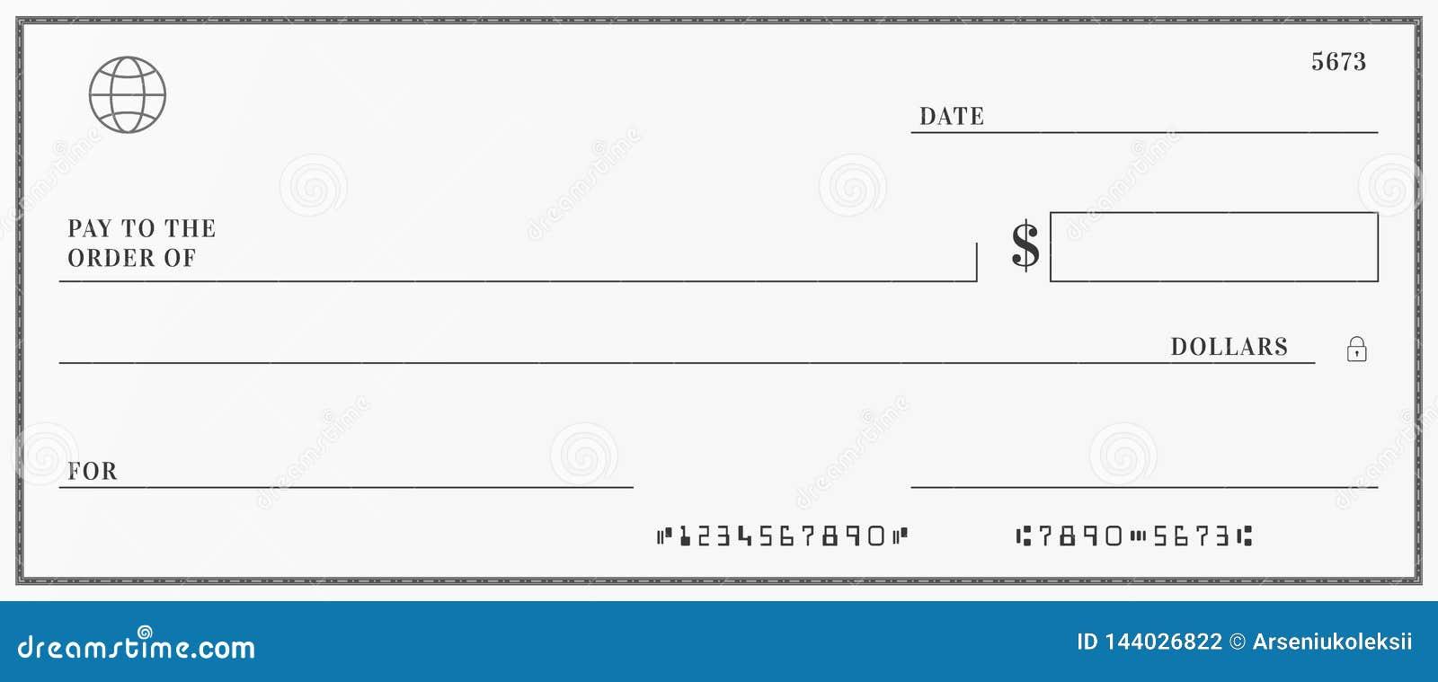 Modello in bianco dell assegno bancario