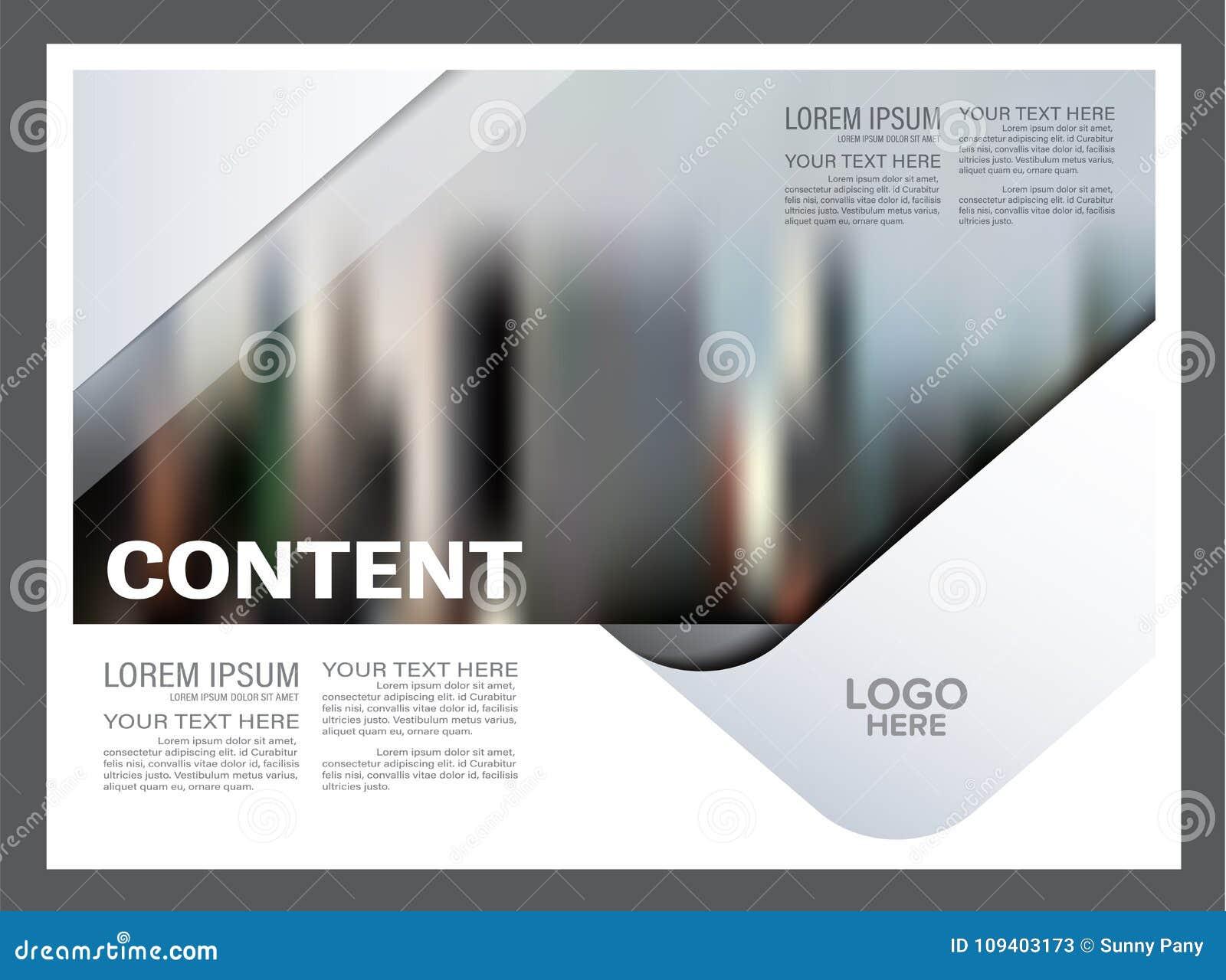Modello in bianco e nero di progettazione della disposizione dell opuscolo annuale