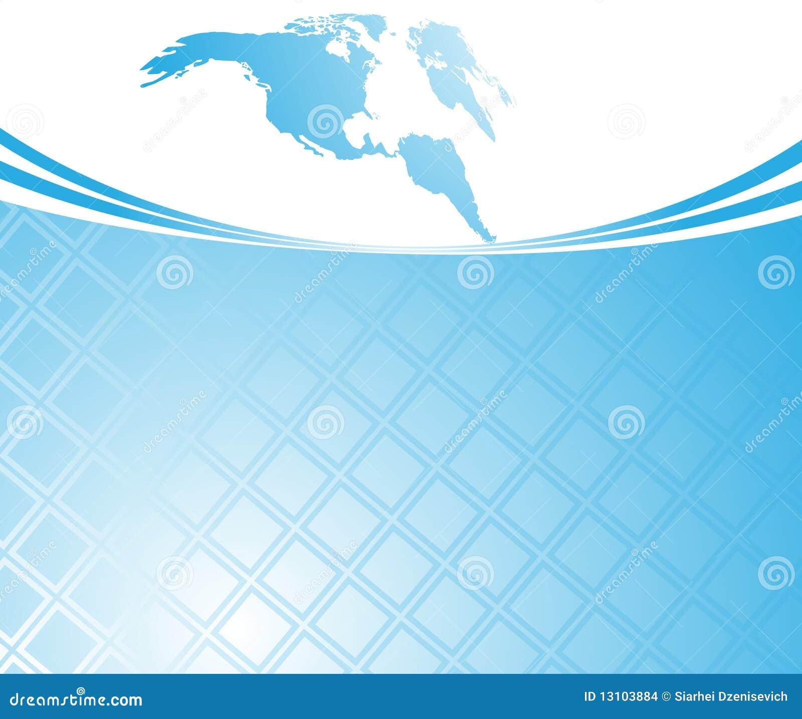 Modello blu della scheda - mondo