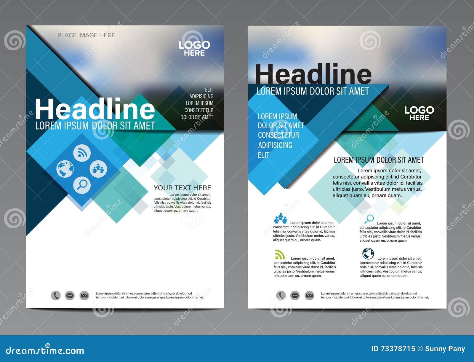 Modello blu di progettazione dell aletta di filatoio del rapporto annuale dell opuscolo Fondo piano moderno di presentazione dell