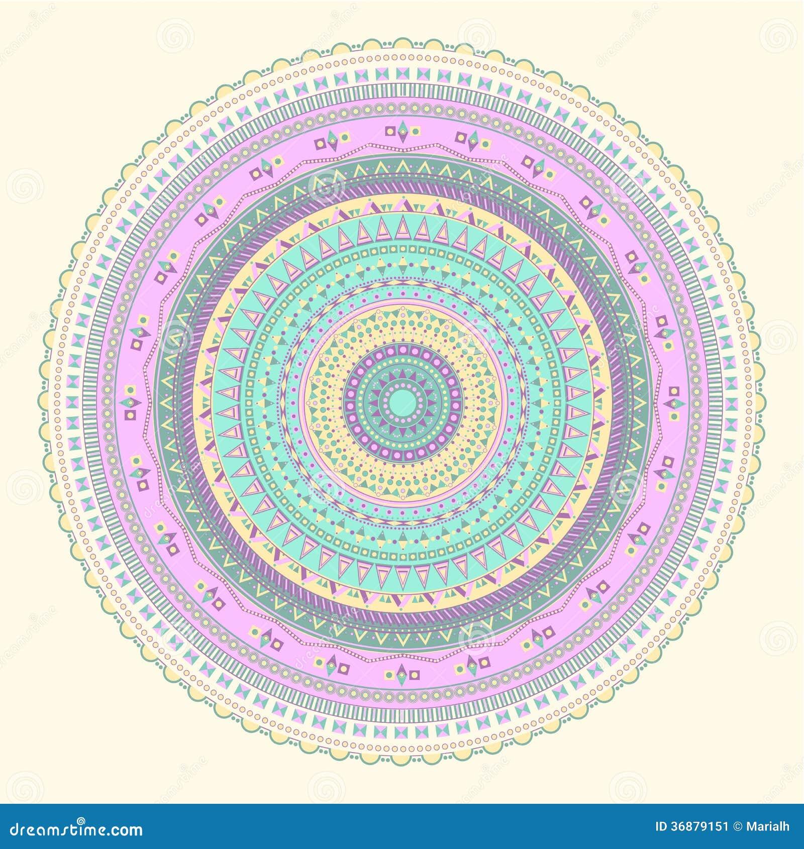 Download Modello circolare astratto illustrazione vettoriale. Illustrazione di geometrico - 36879151