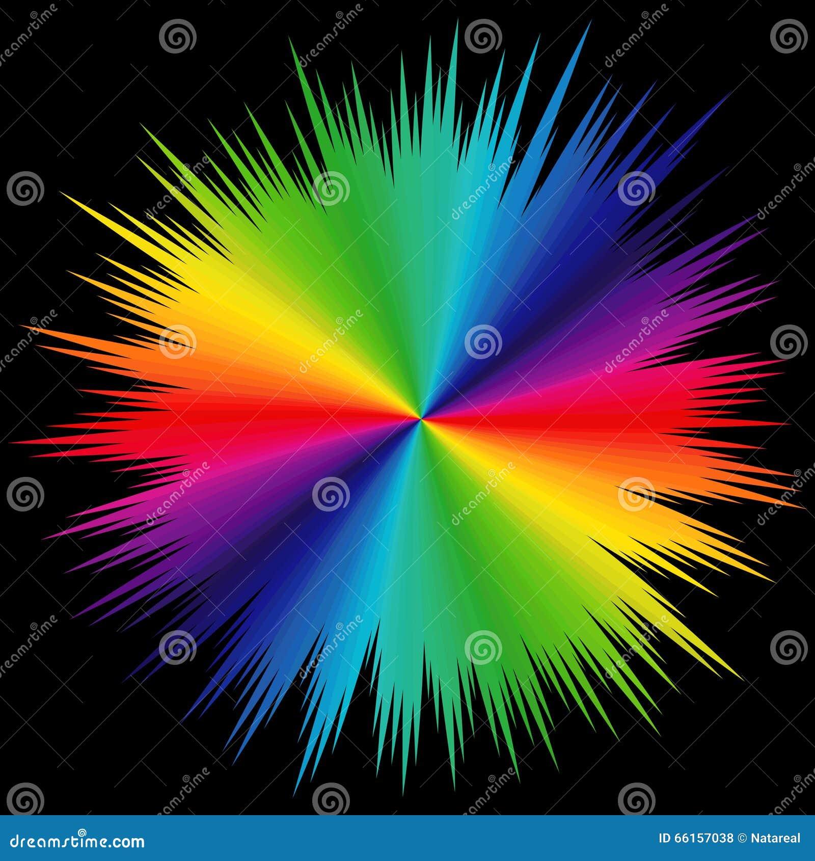 Modello con i colori di spettro sopra il nero - Cavaliere modello a colori ...