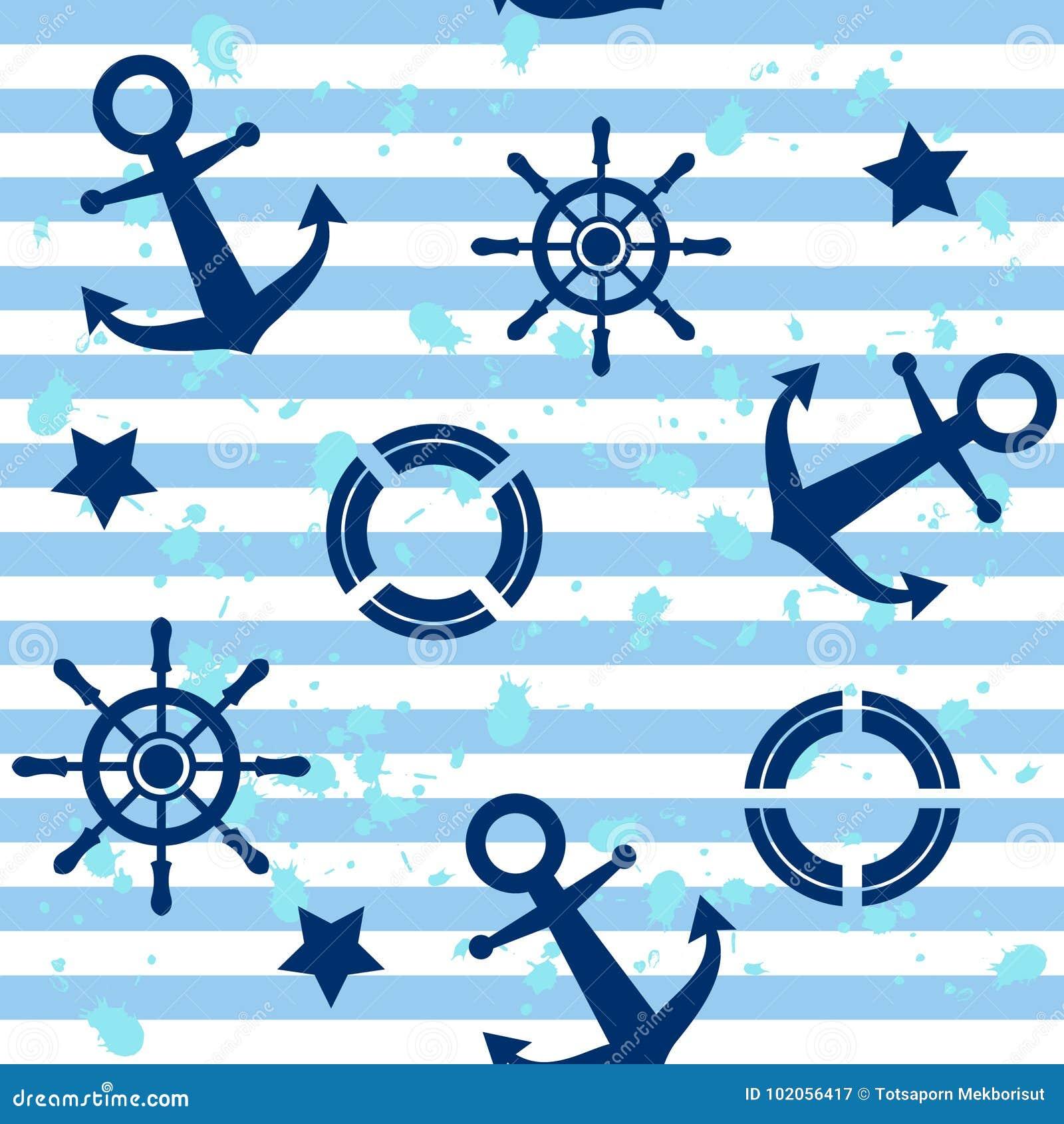 Modello con le ancore e la barca a vela