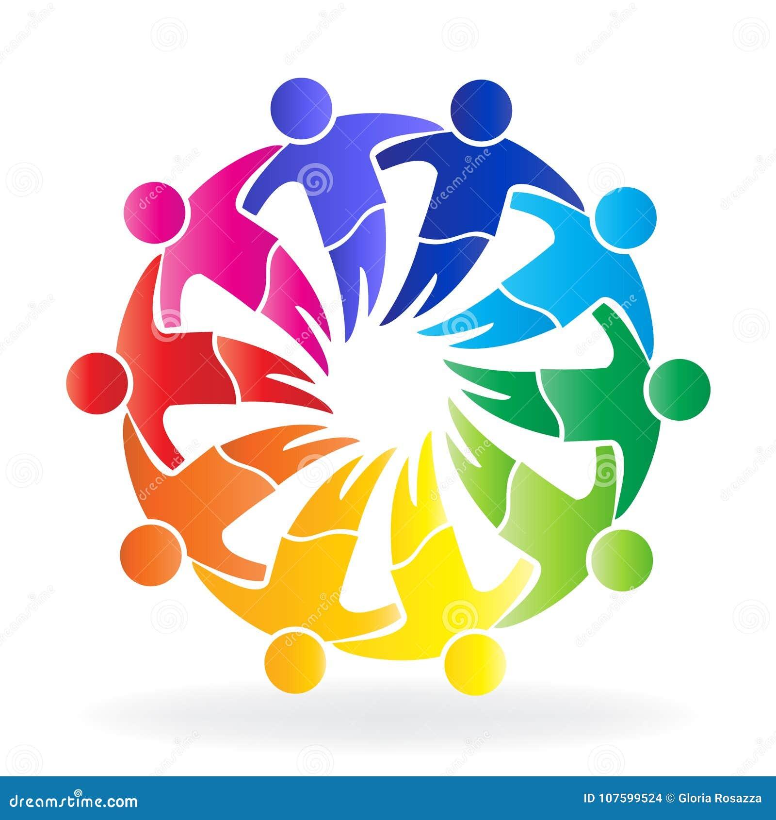 Modello creativo dell icona di progettazione di logo della gente di riunione della comunità di lavoro di squadra