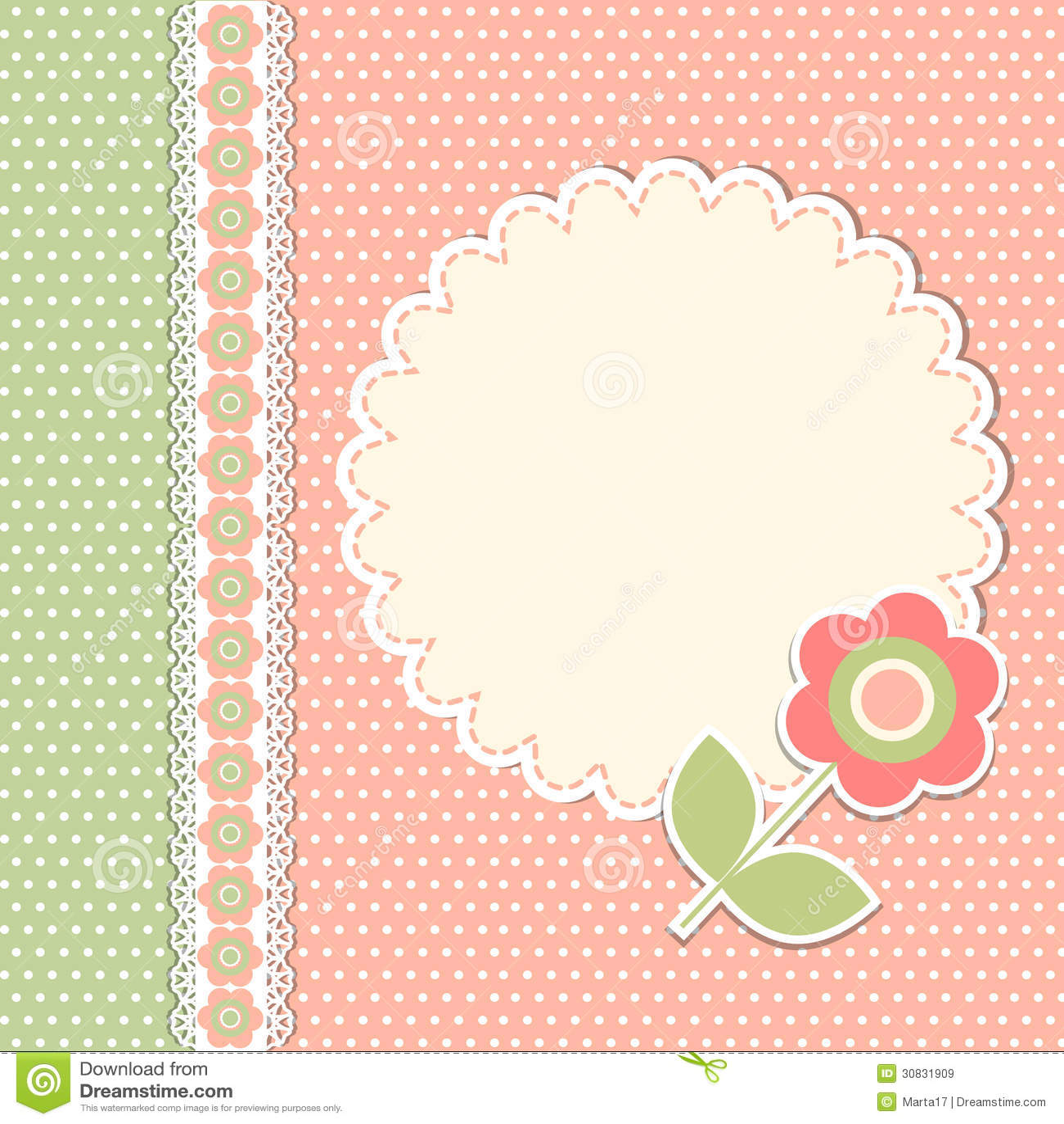 Modello d annata con il fiore