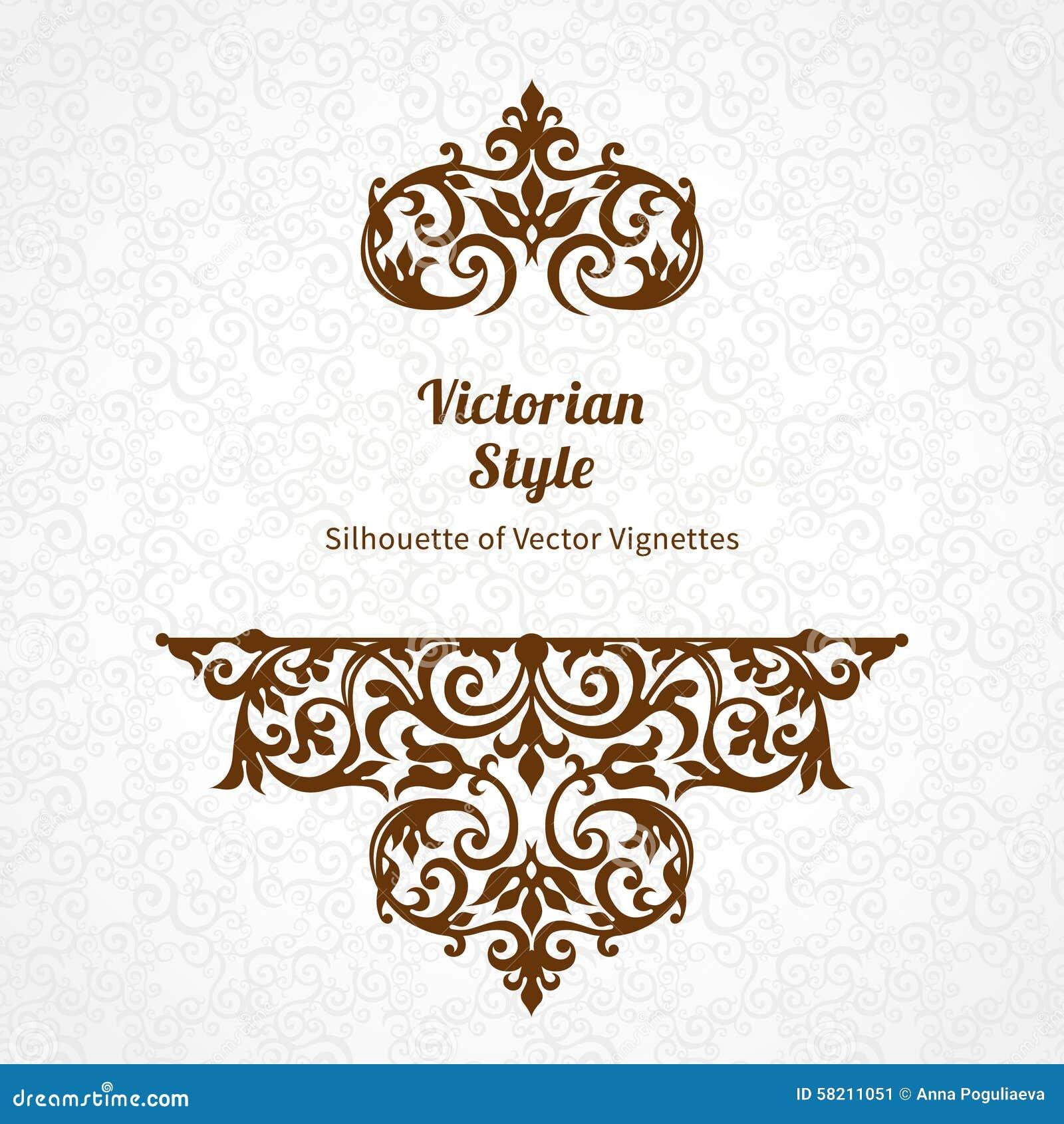 Modello decorato di vettore nello stile vittoriano for Come decorare lo stile vittoriano