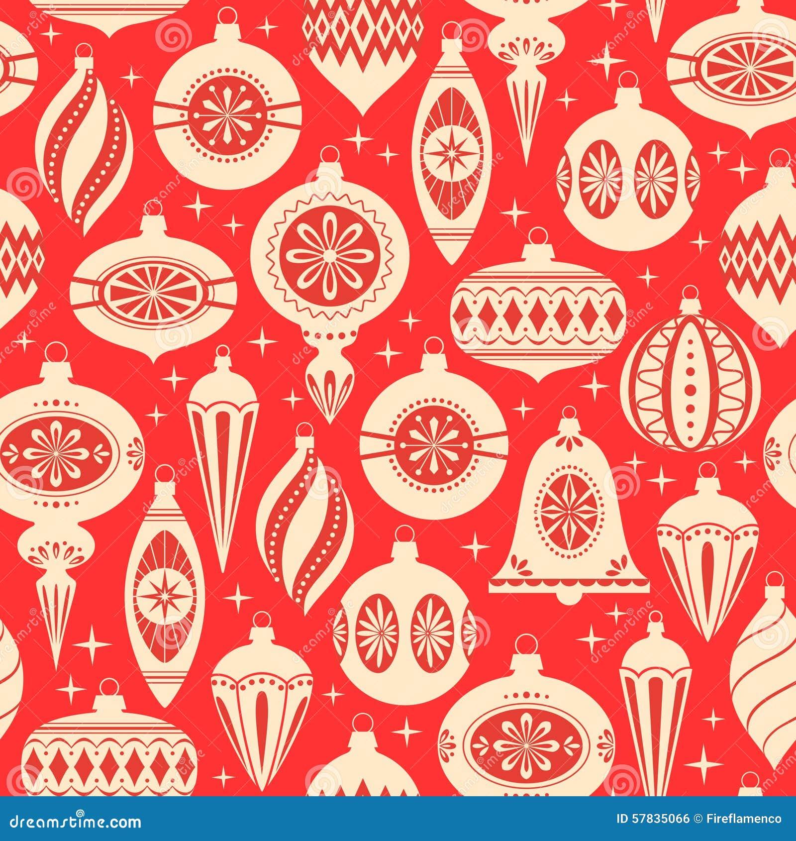 Modello degli ornamenti di Natale