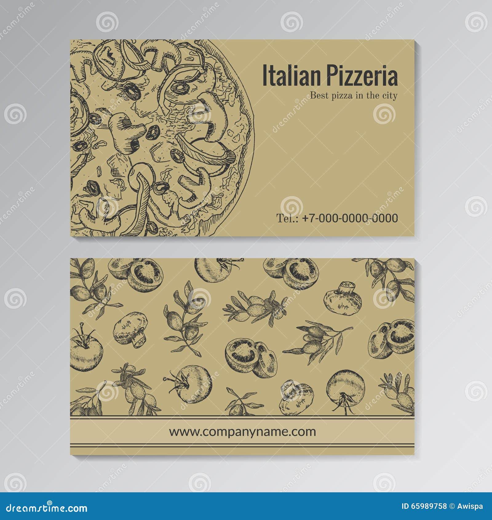 Modello Del Biglietto Da Visita Della Pizzeria